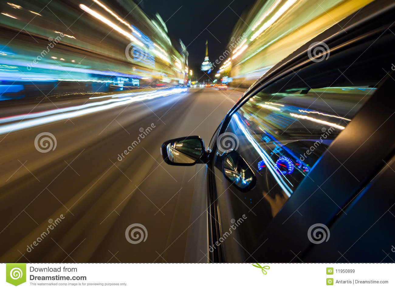Wallpaper Speed Car Car Driving Fast In The Night City Stock Image Image Of
