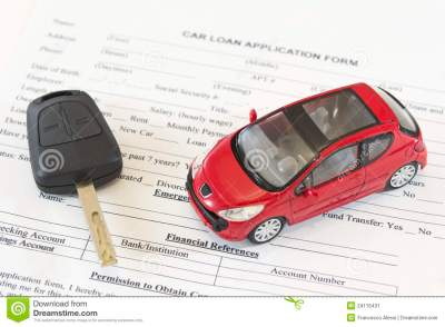 Car Loan Application Form Stock Image - Image: 24115431