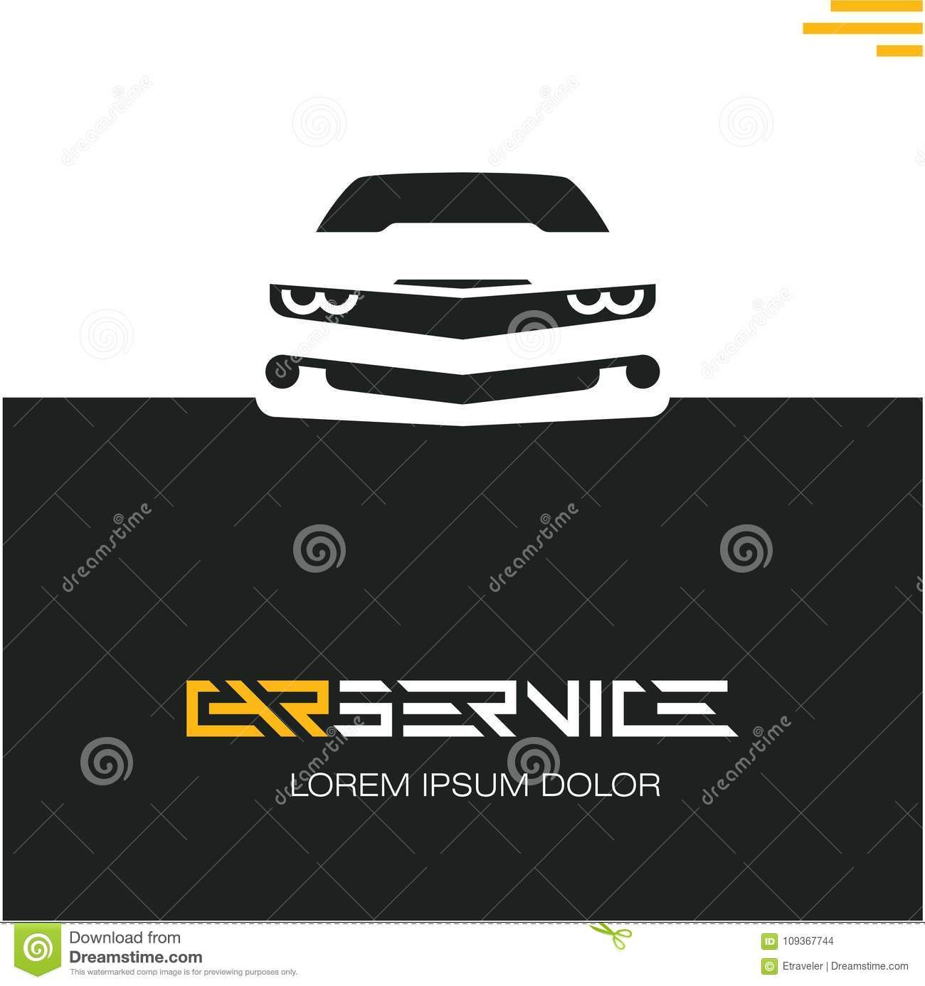 Garage Design Template Car Service Poster Design Template Sports Car Stock Illustration