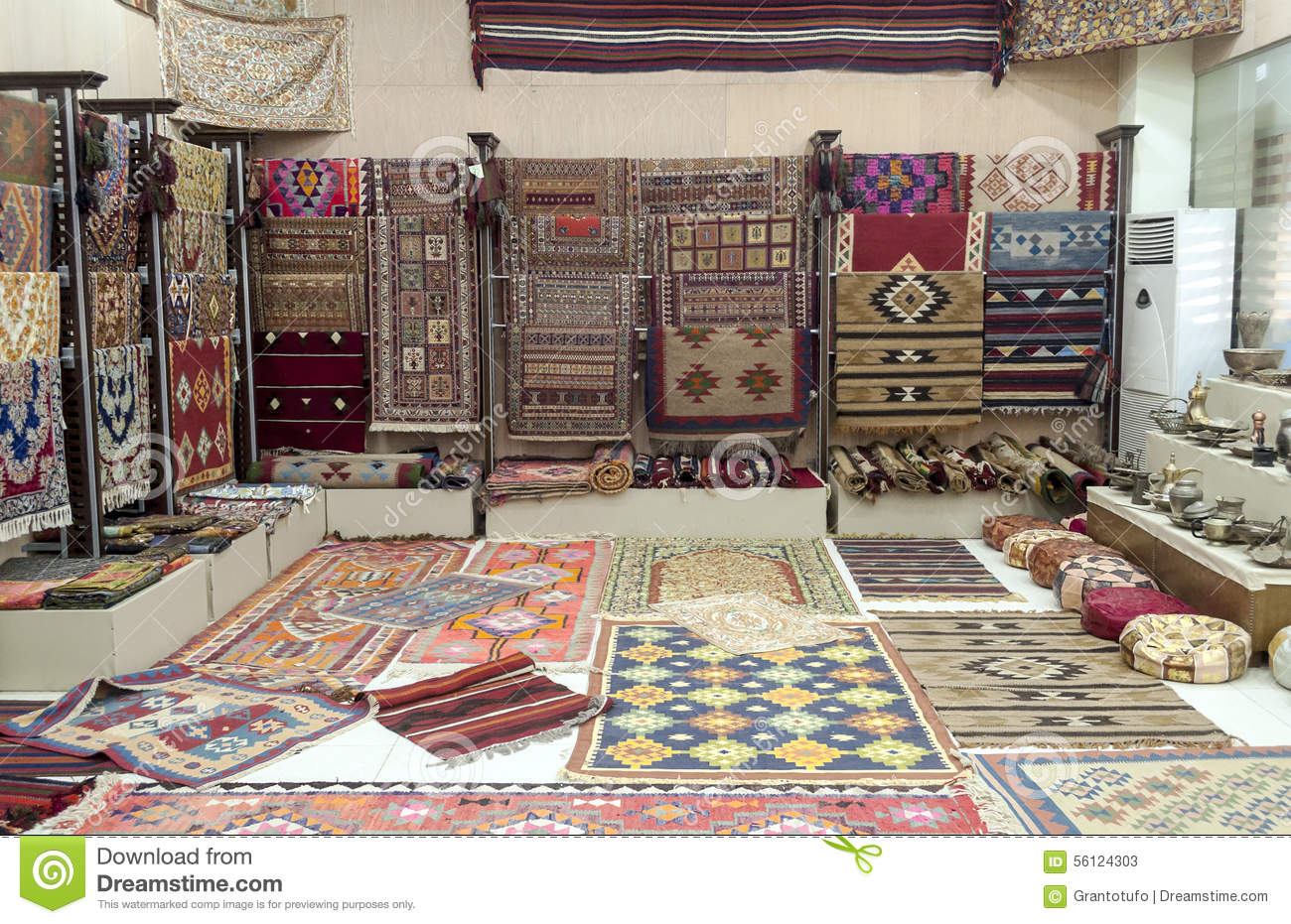 Tapijt Design Carpet Shop Stock Image. Image Of Carpet, Handicraft