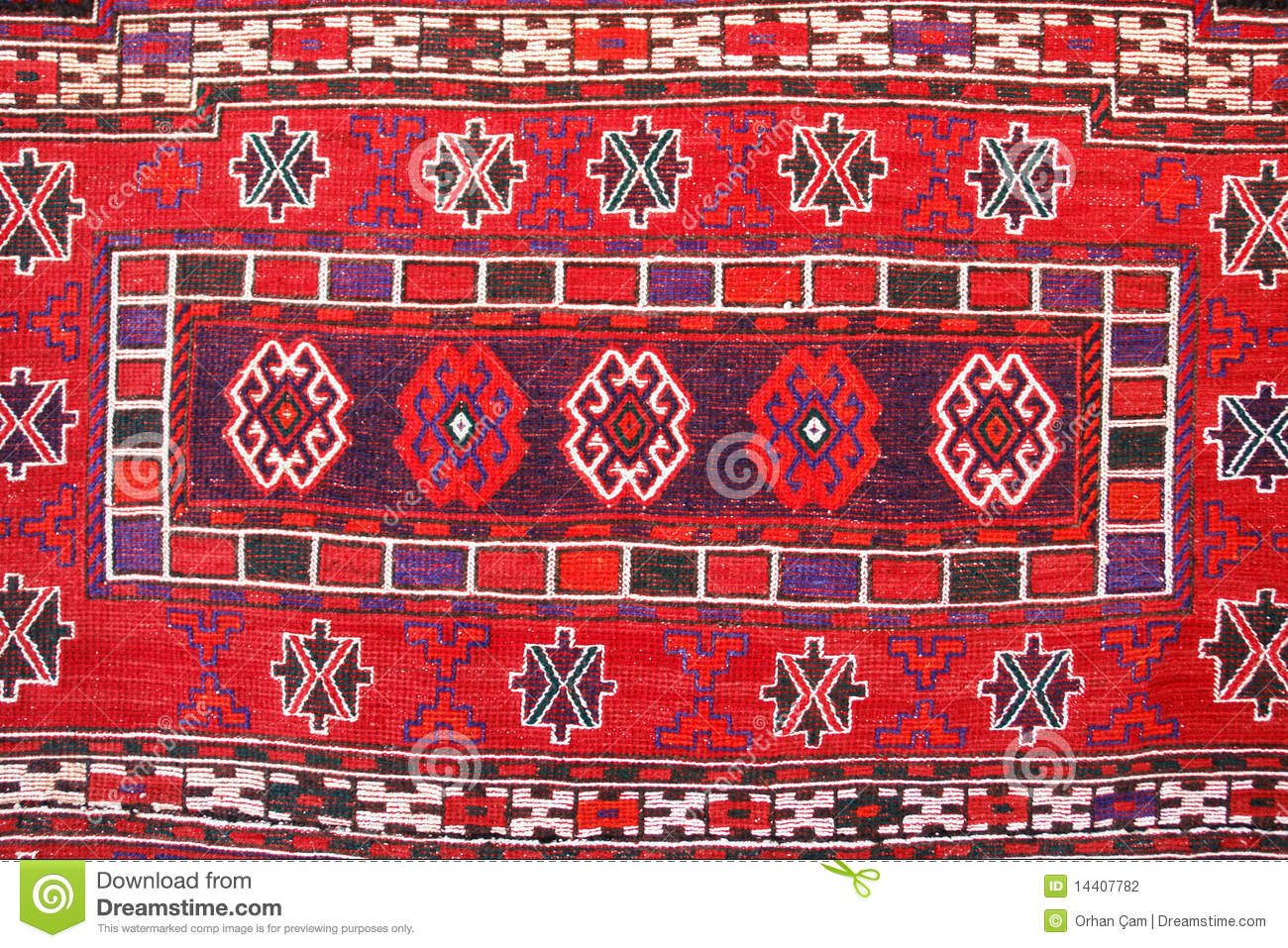 Teppich Selber Knüpfen Carpet With Traditional Turkish Patterns Stock Photo
