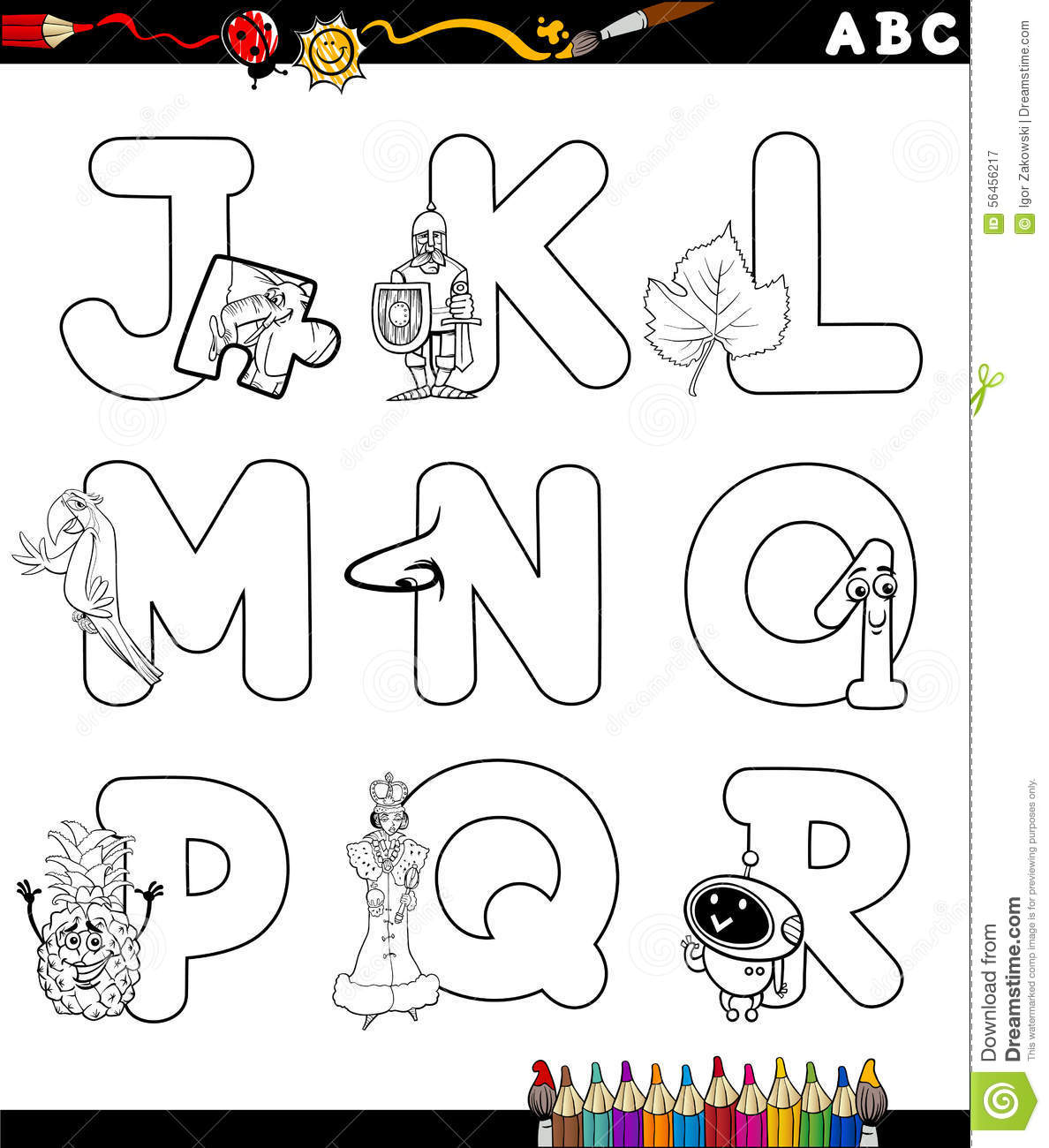 capital j coloring page