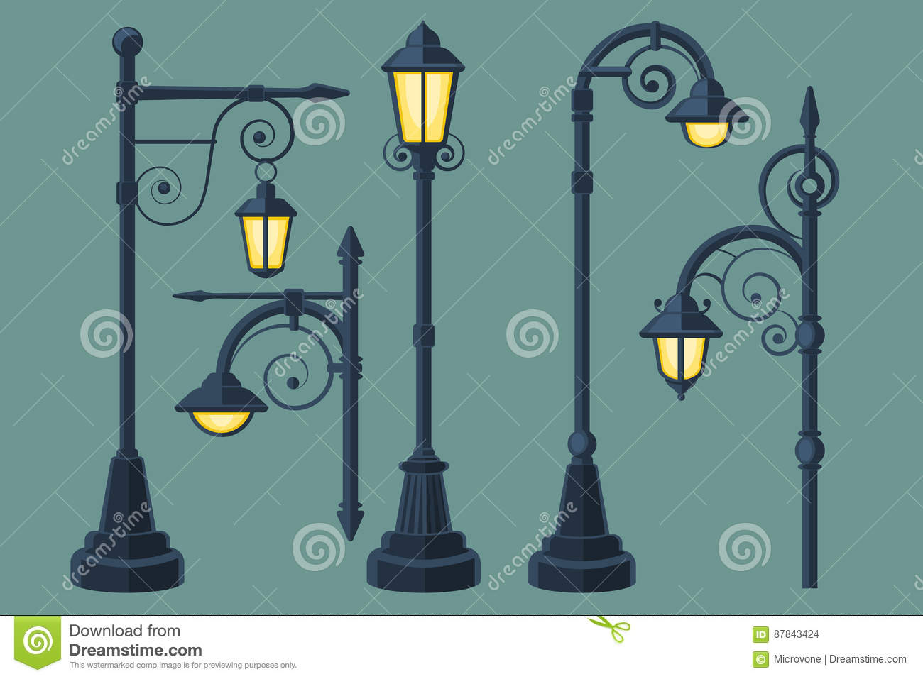 Candelon Cheminees Venerque Street Lamp Illustration