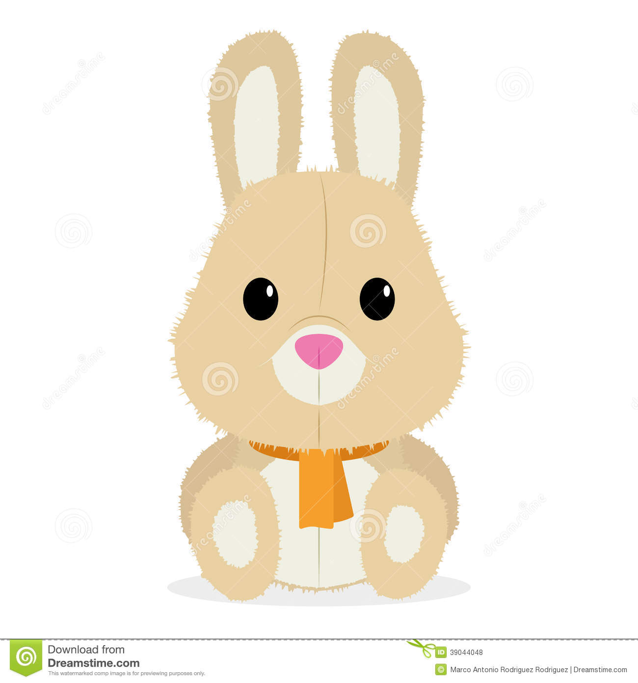 Cute Baby Girl Wallpapers Free Cartoon Cute Rabbit Isolated On White Background Stock