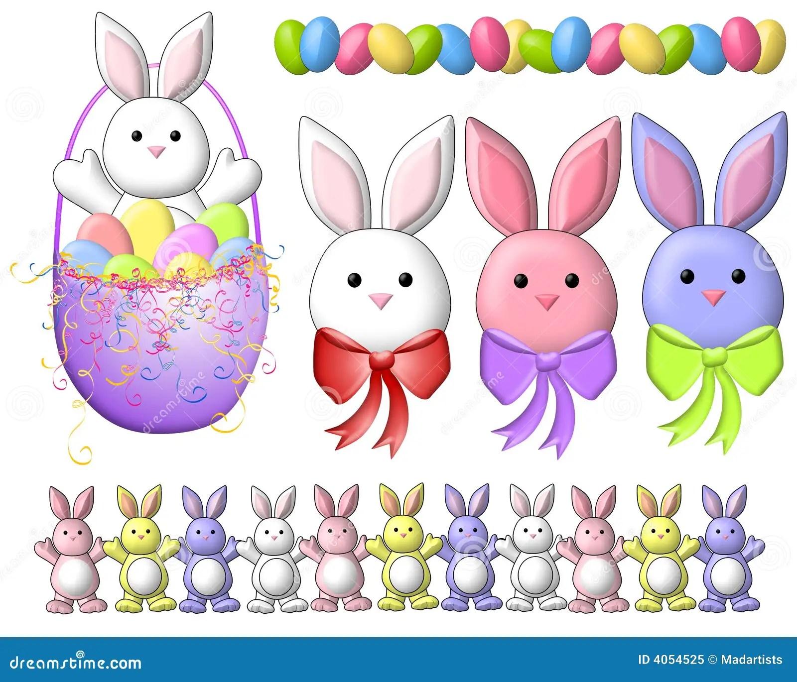 Cute Rabbit Wallpaper Free Download Cartoon Easter Bunnies Clip Art 2 Royalty Free Stock Photo