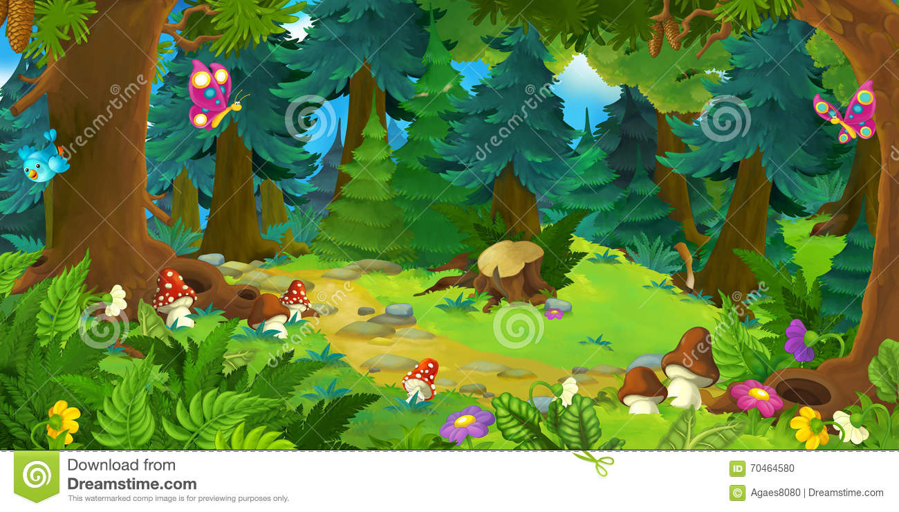 Animated Desktop Wallpaper For Windows 7 Free Download Cartoon Forest Scene Background For Different Fairy