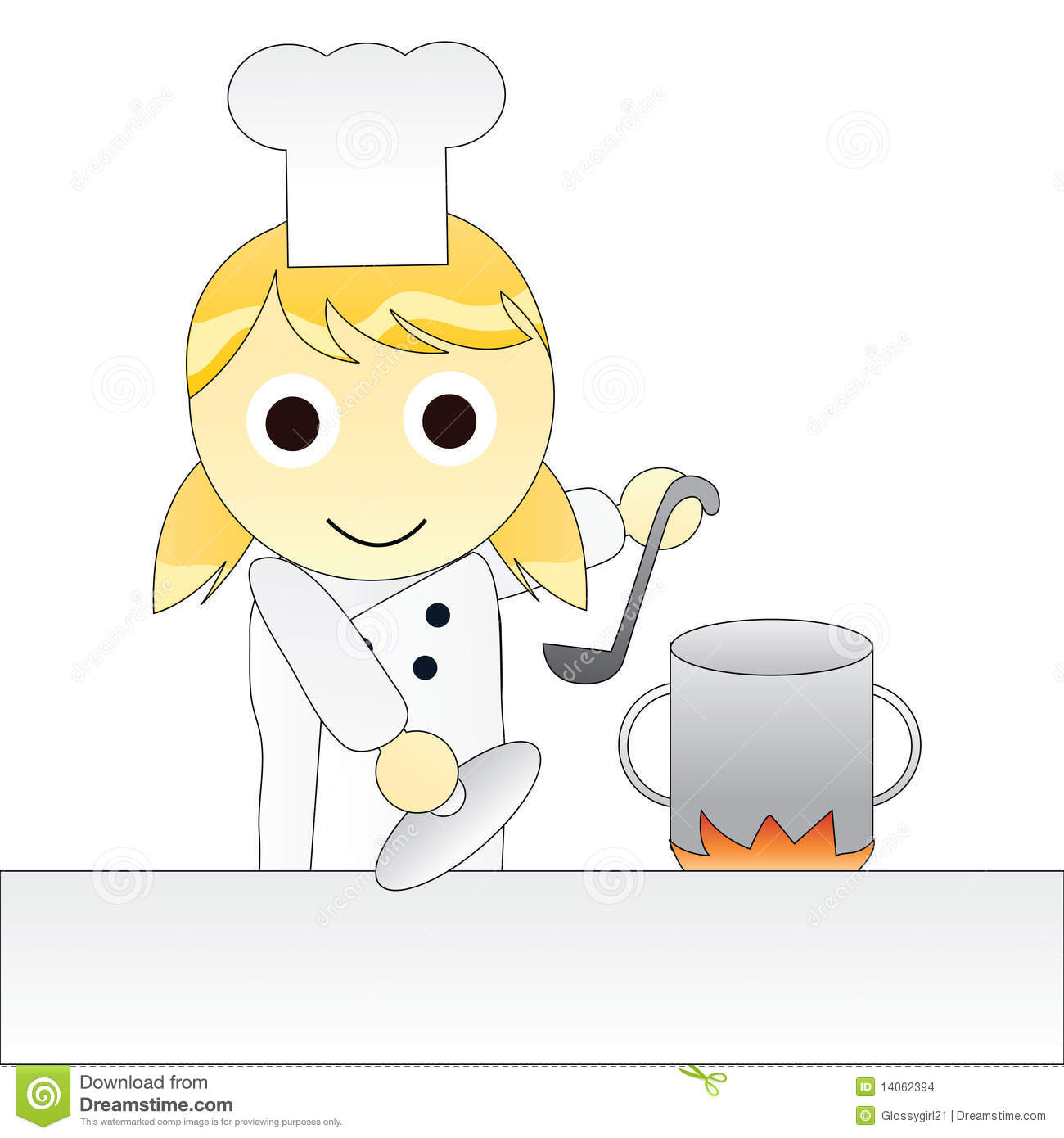 Cliparts Küche Gratis Cartoon Girl Chef Cooking Stock Vector Illustration Of