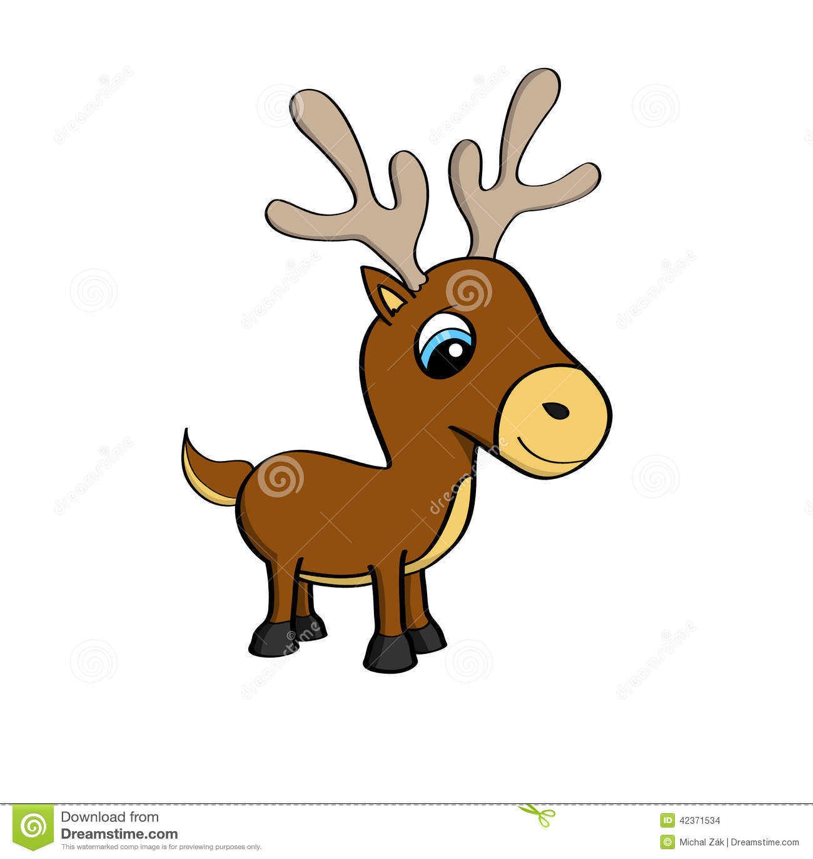 Cute cartoon animals with big eyes - Cute Cartoon Animals With Big Eyes Cartoon Illustration Of A Cute Little Reindeer With Big Download