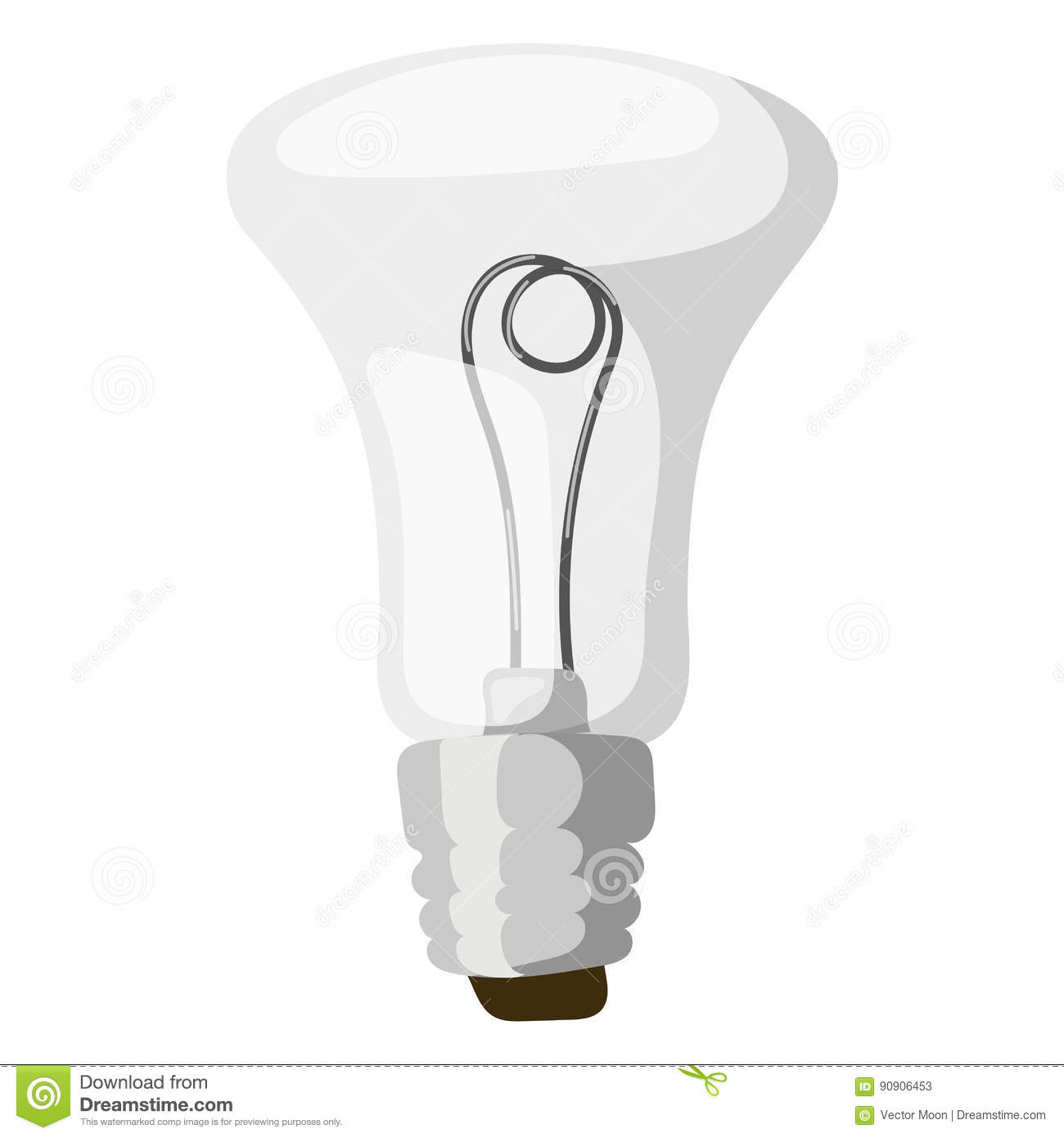 Glass Lamp Vector Cartoon Lamp Vector Illustration Lamp Light Isolated Design