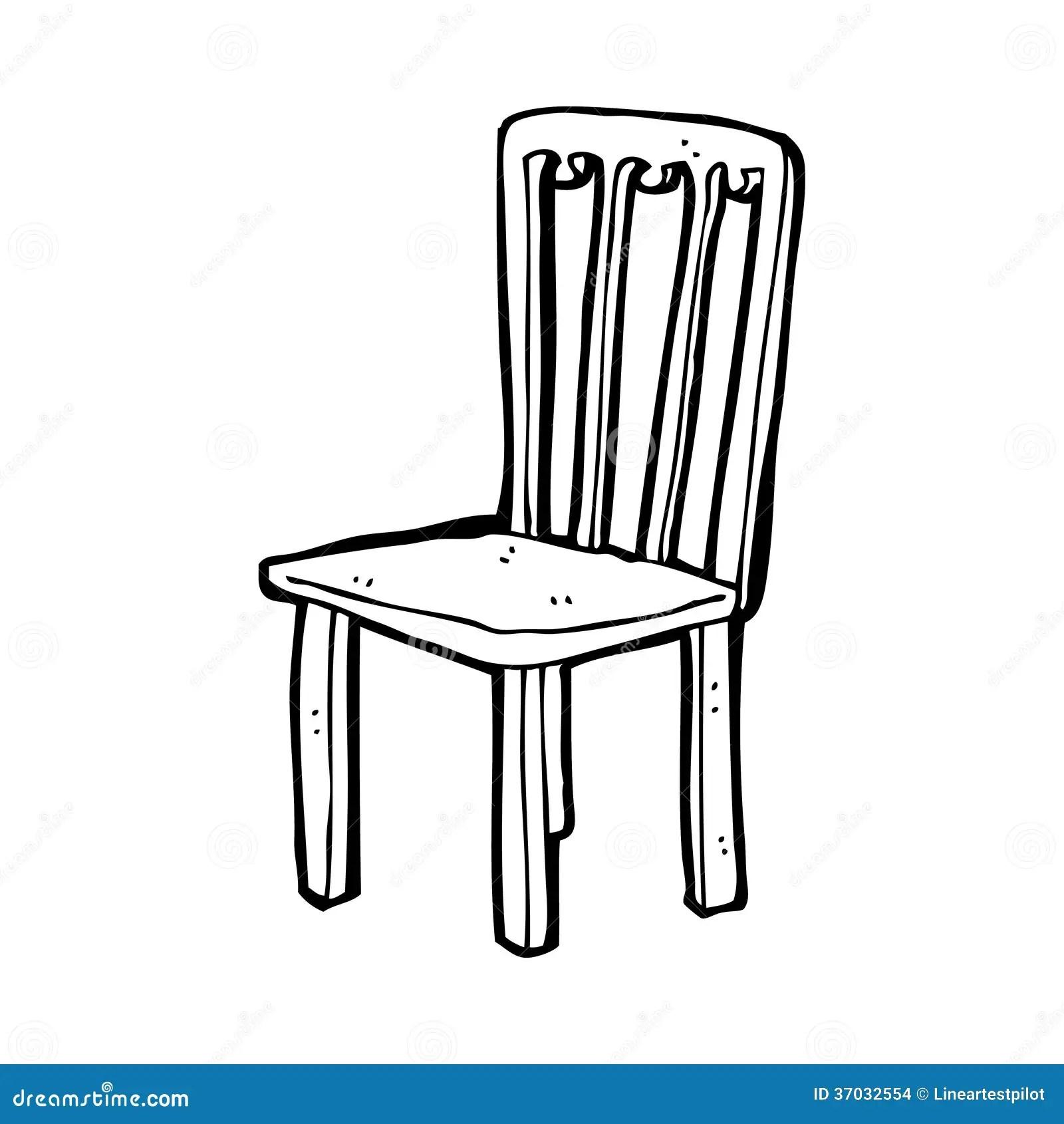 Cartoon Old Chair Stock Illustration Illustration Of