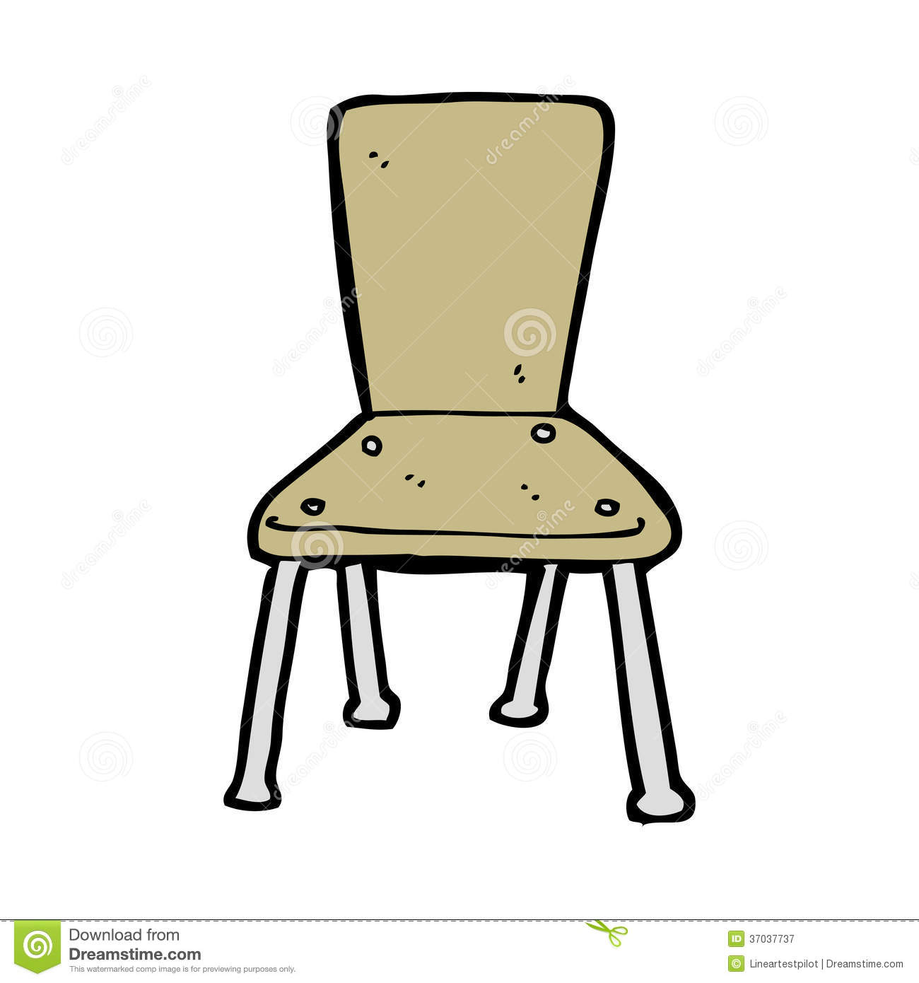 Management Sessel Cartoon Old School Chair Royalty Free Stock Photography