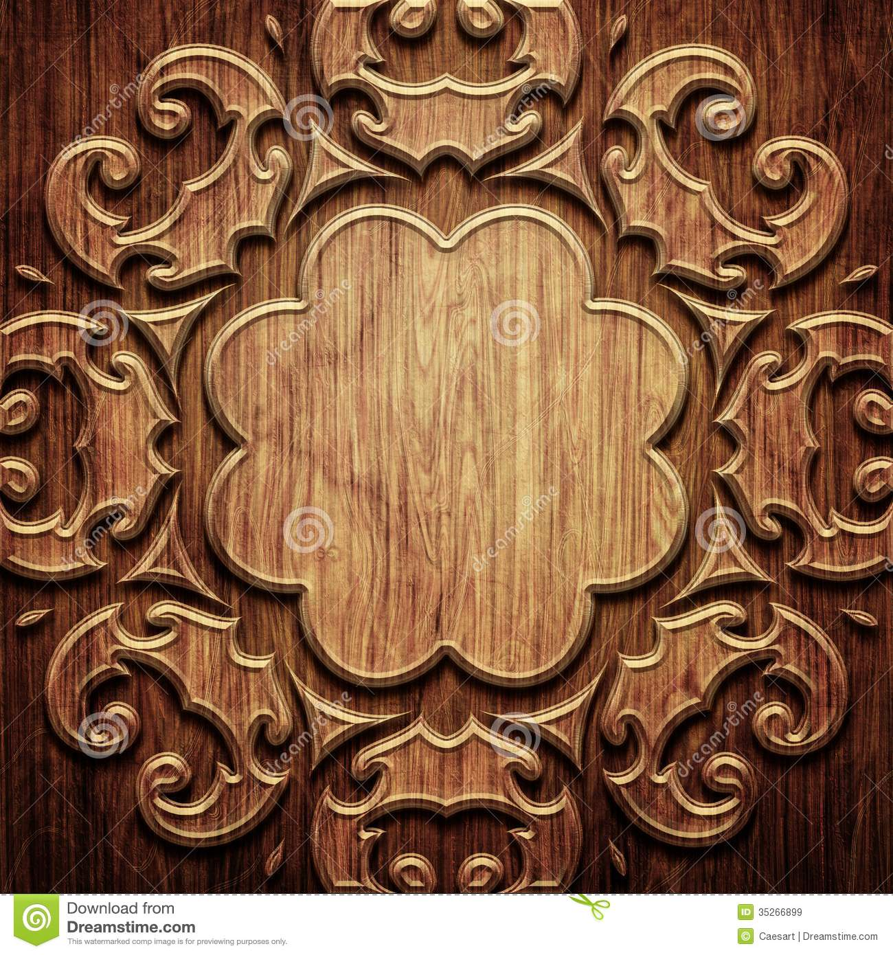 Luxury 3d Wallpaper Carved Wooden Pattern Royalty Free Stock Images Image