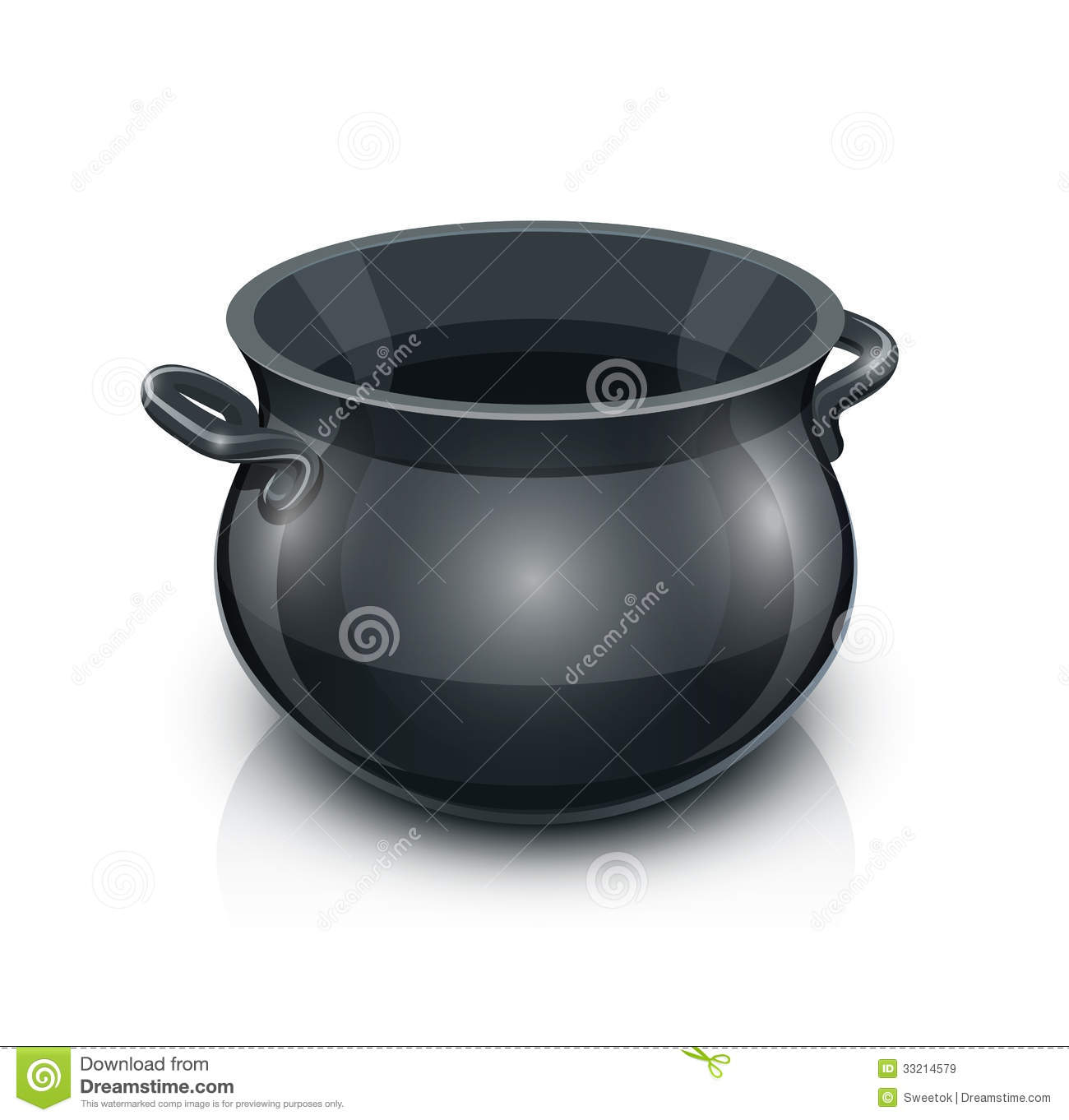 Cast Iron Pot Cast Iron Pot Royalty Free Stock Images Image 33214579