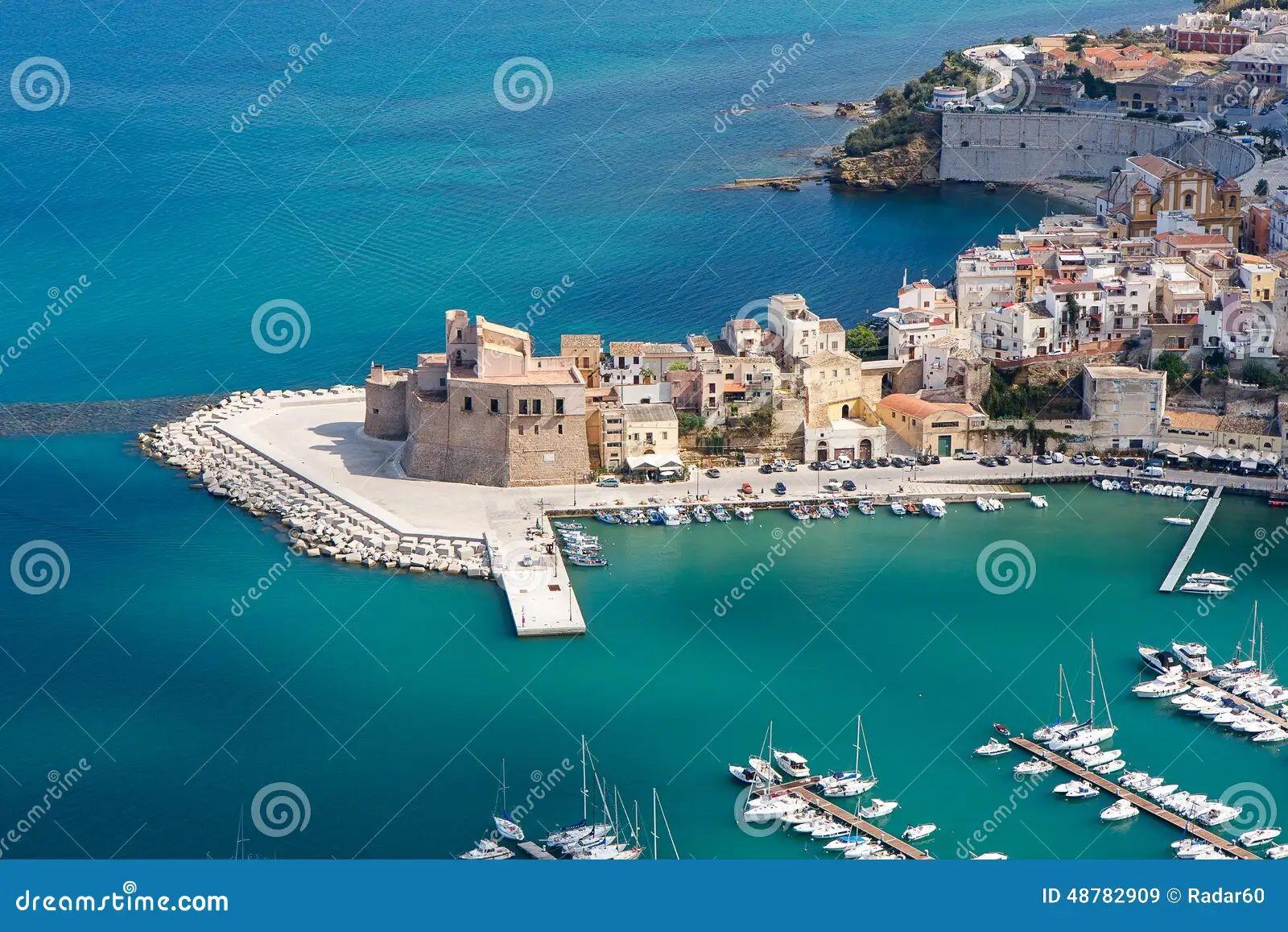 Castellammare del golfo harbor italy sea sicily