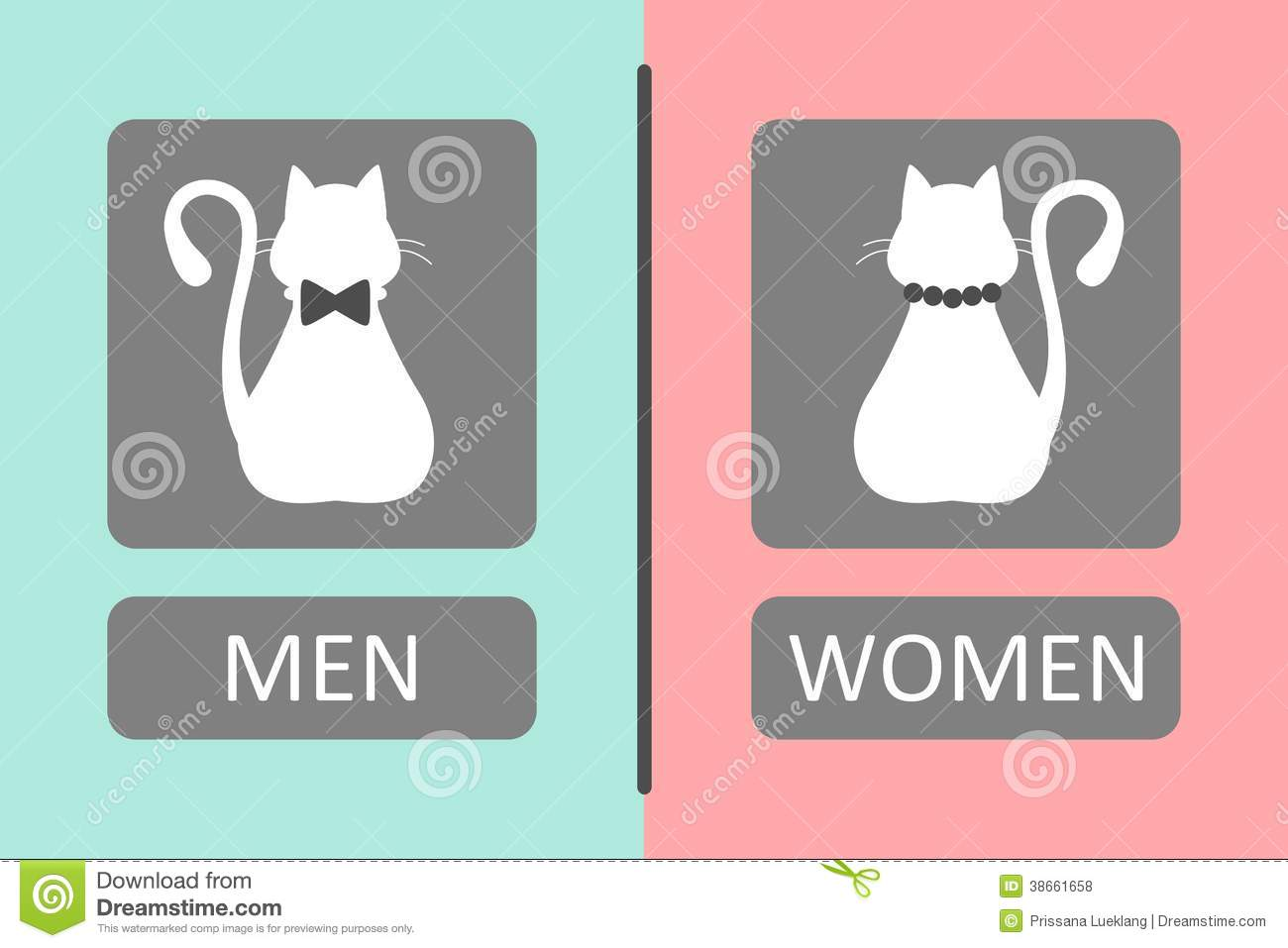Cat toilet sign royalty free stock photos image 38661658