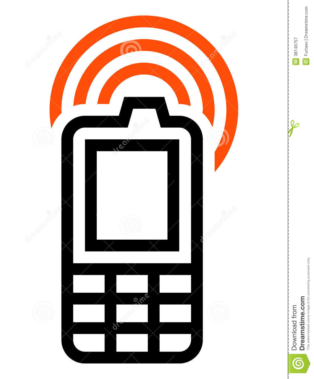 Cell phone icon royalty free stock photography image