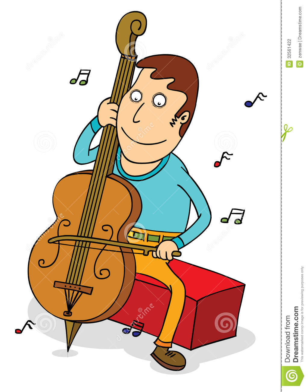 Royalty free stock photo download cello player