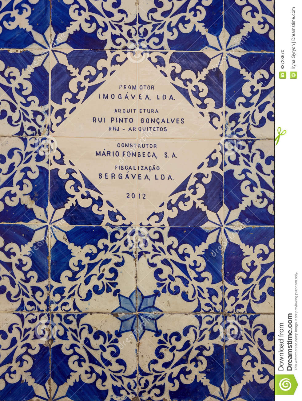 Azulejos Pinto Ceramic Tiles Patterns From Portugal Azulejos Editorial Image