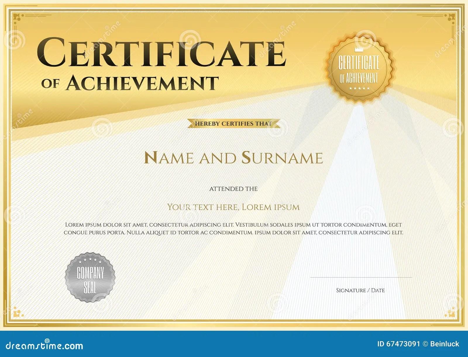 Certificate graduation template graduation certificate golden certificate of appreciation graduation template how to make yadclub Choice Image