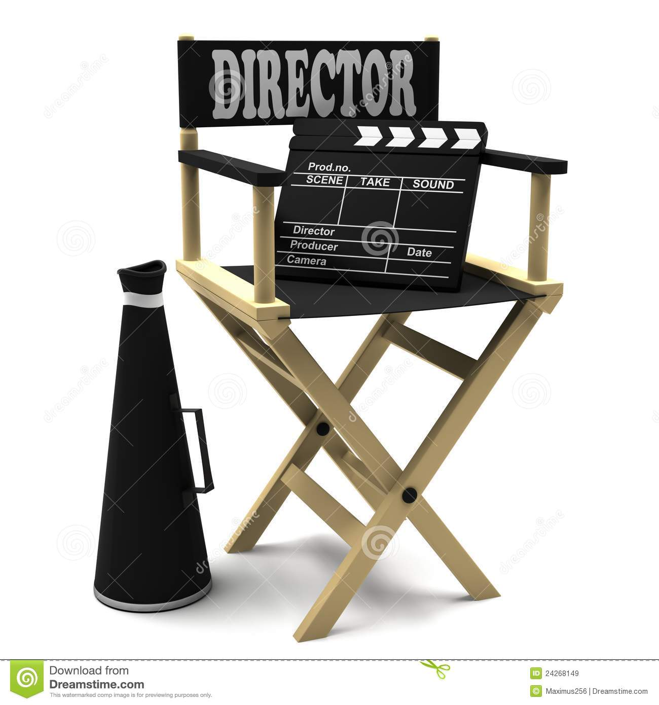 Tisch School Of The Arts Board Of Directors Chair Director Movie Clapper And Megaphone Stock