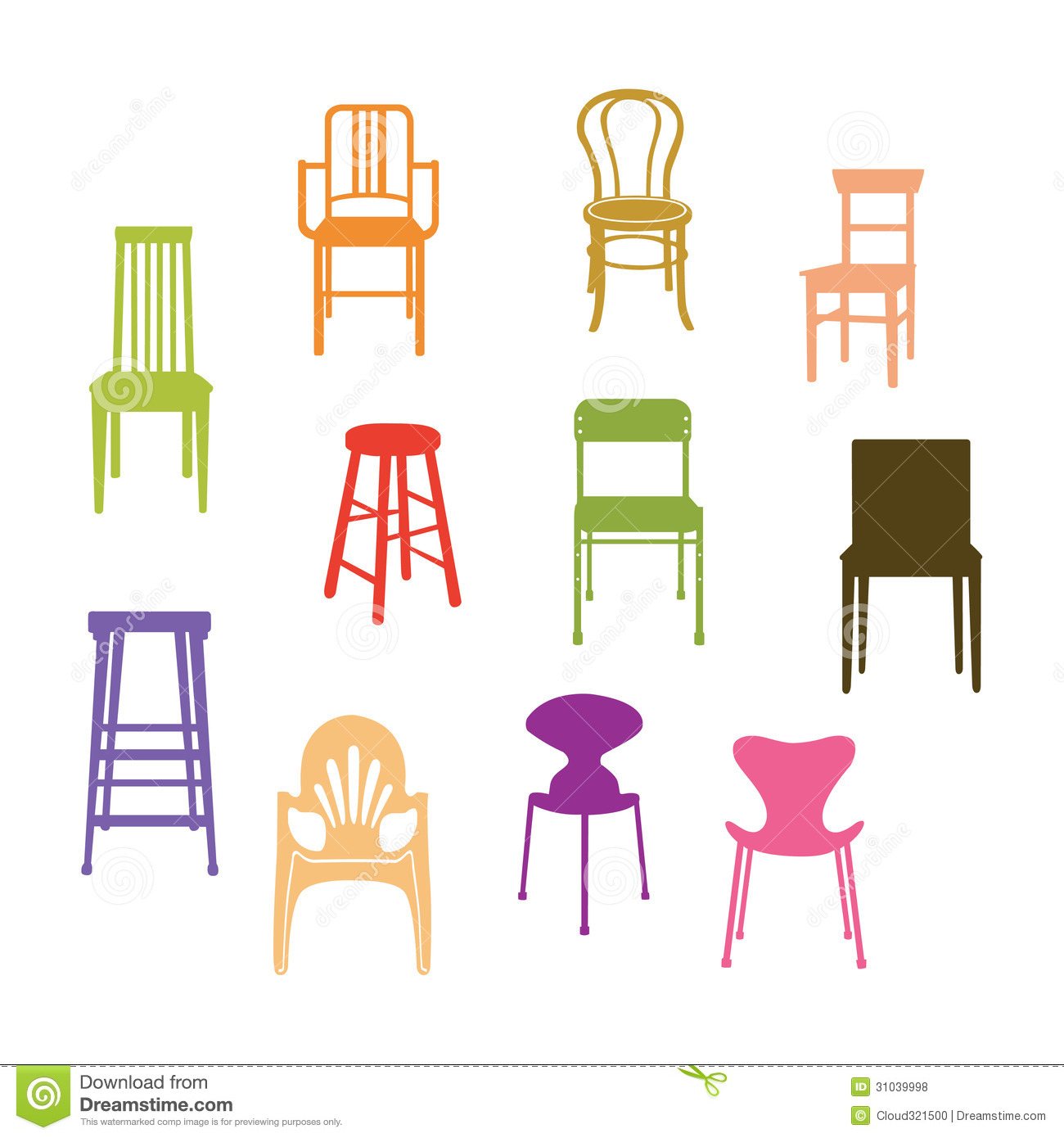 Chair set royalty free stock photos image 31039998