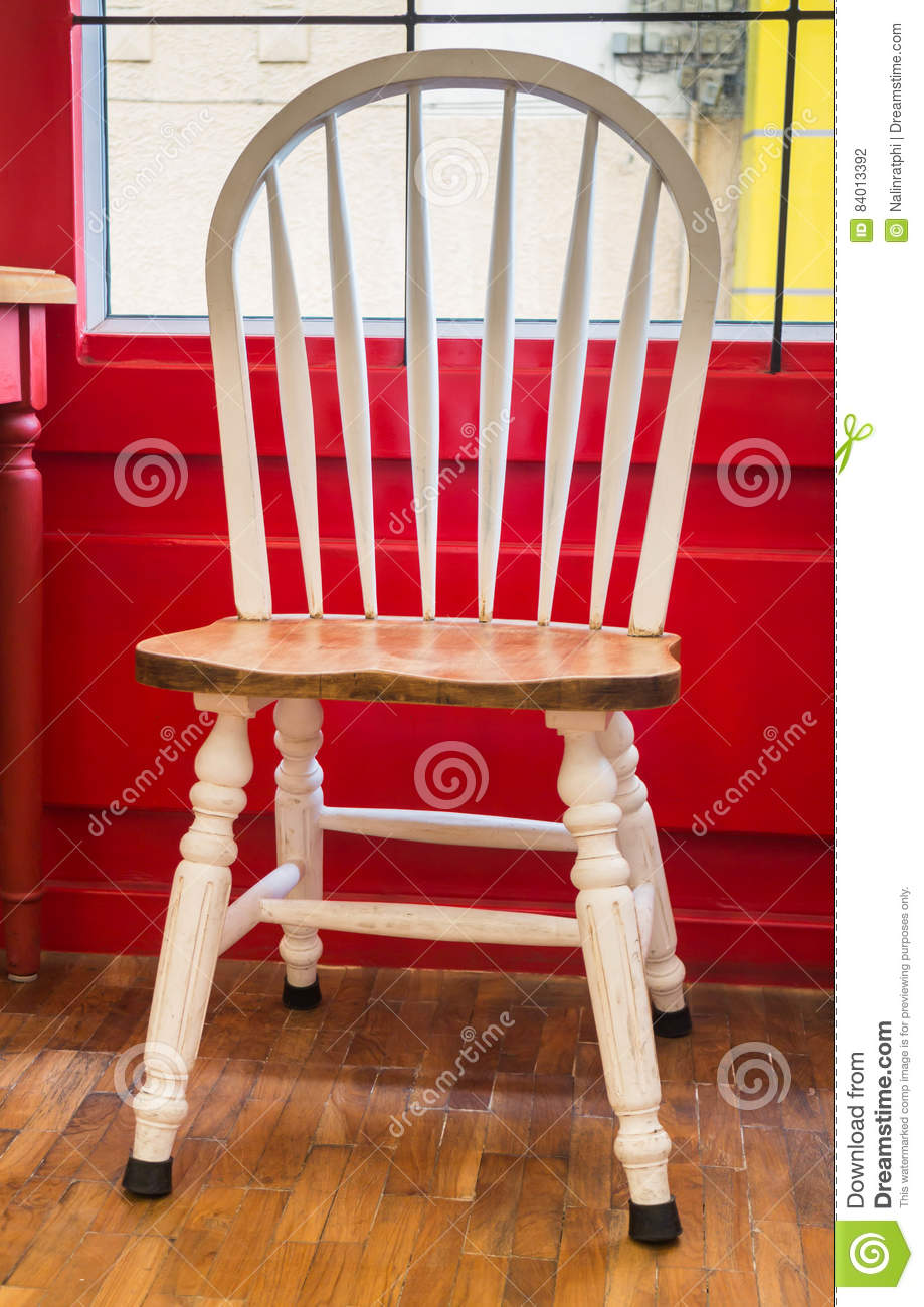 Chaise Blanche De Cuisine Chaise Blanche De Cuisine De Vintage Simple Photo Stock Image Du