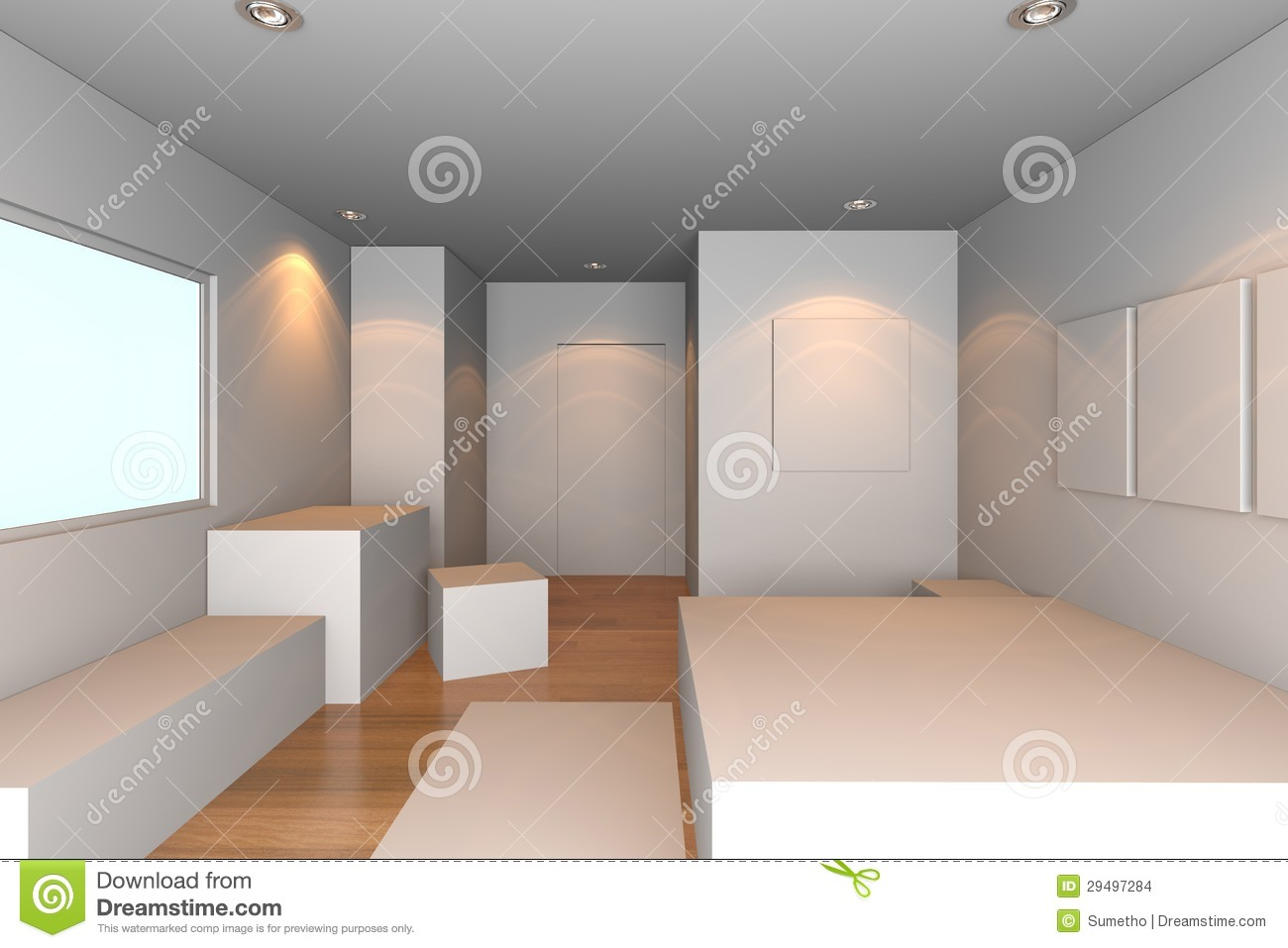 Chambre A Coucher Blanche Chambre à Coucher Blanche Images Stock Image 29497284