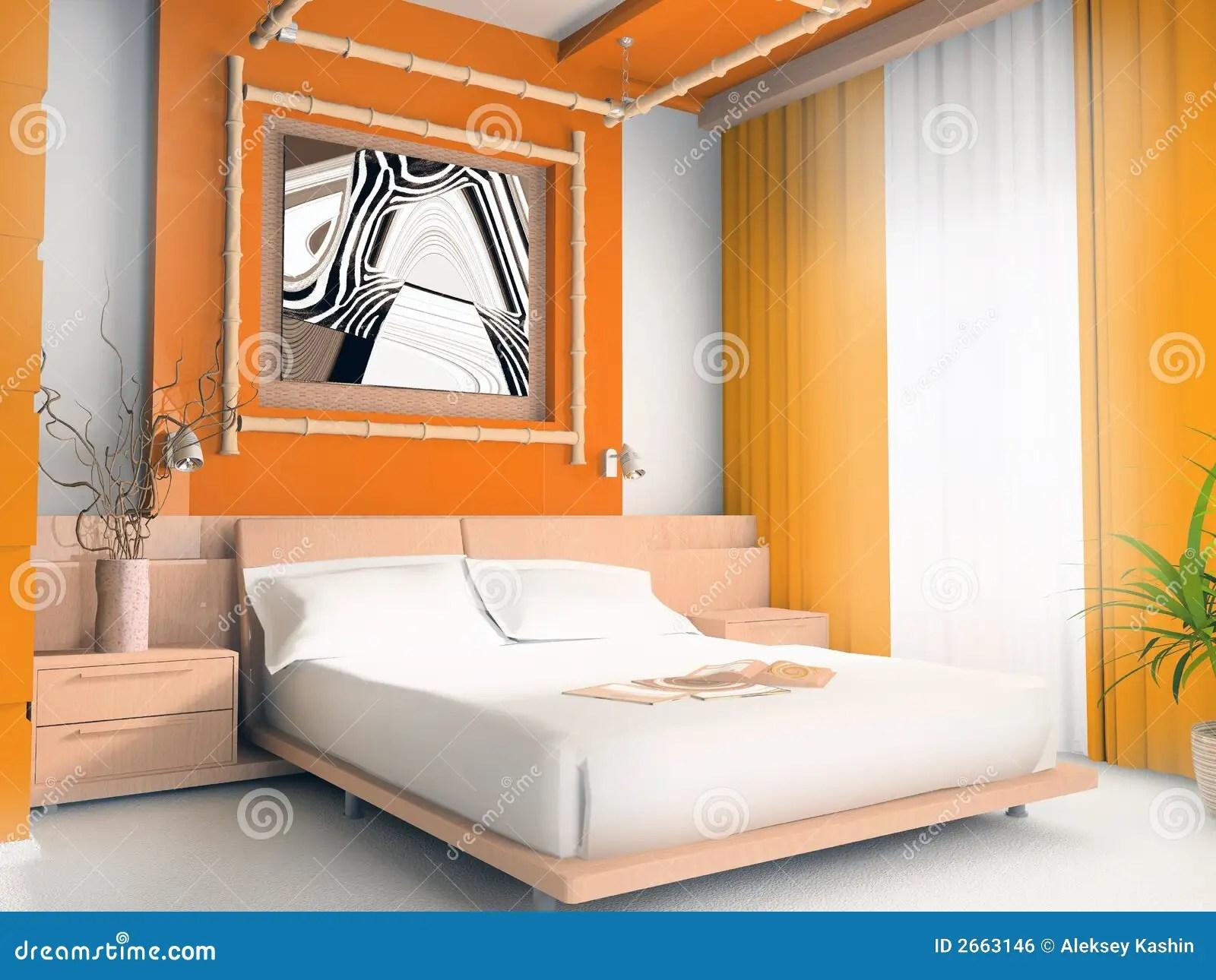 Chambre à Coucher Orange | Ballon Gonflé Jaune Et Oreiller De ...