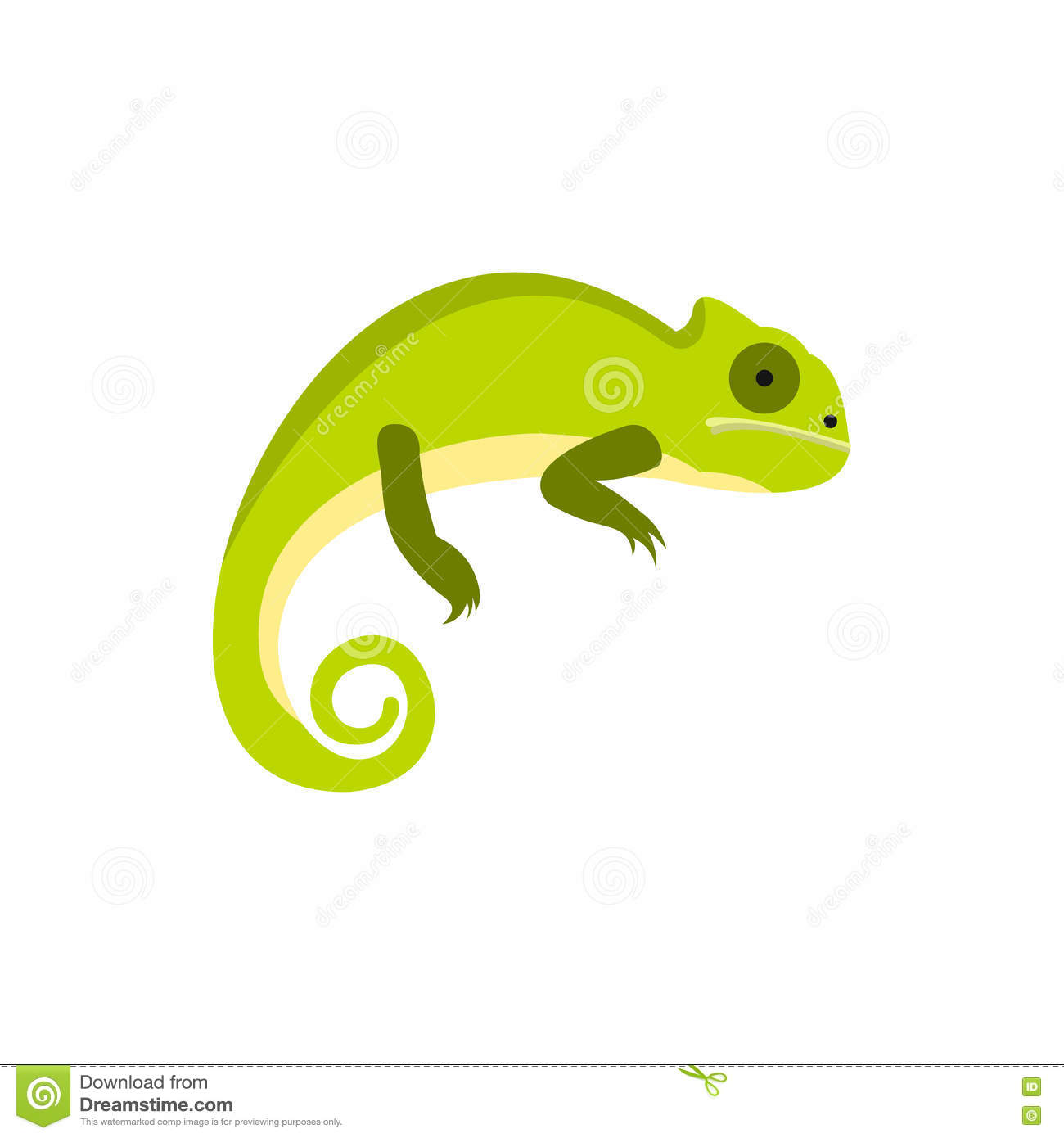 Chameleon Style Chameleon Icon In Flat Style Stock Vector Illustration Of Cute