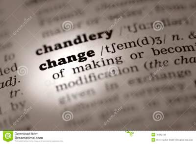 Change-Dictionary Definition Stock Photo - Image: 15672158