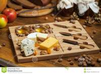 Cheese Platter With Various Cheeses. Stock Image - Image ...