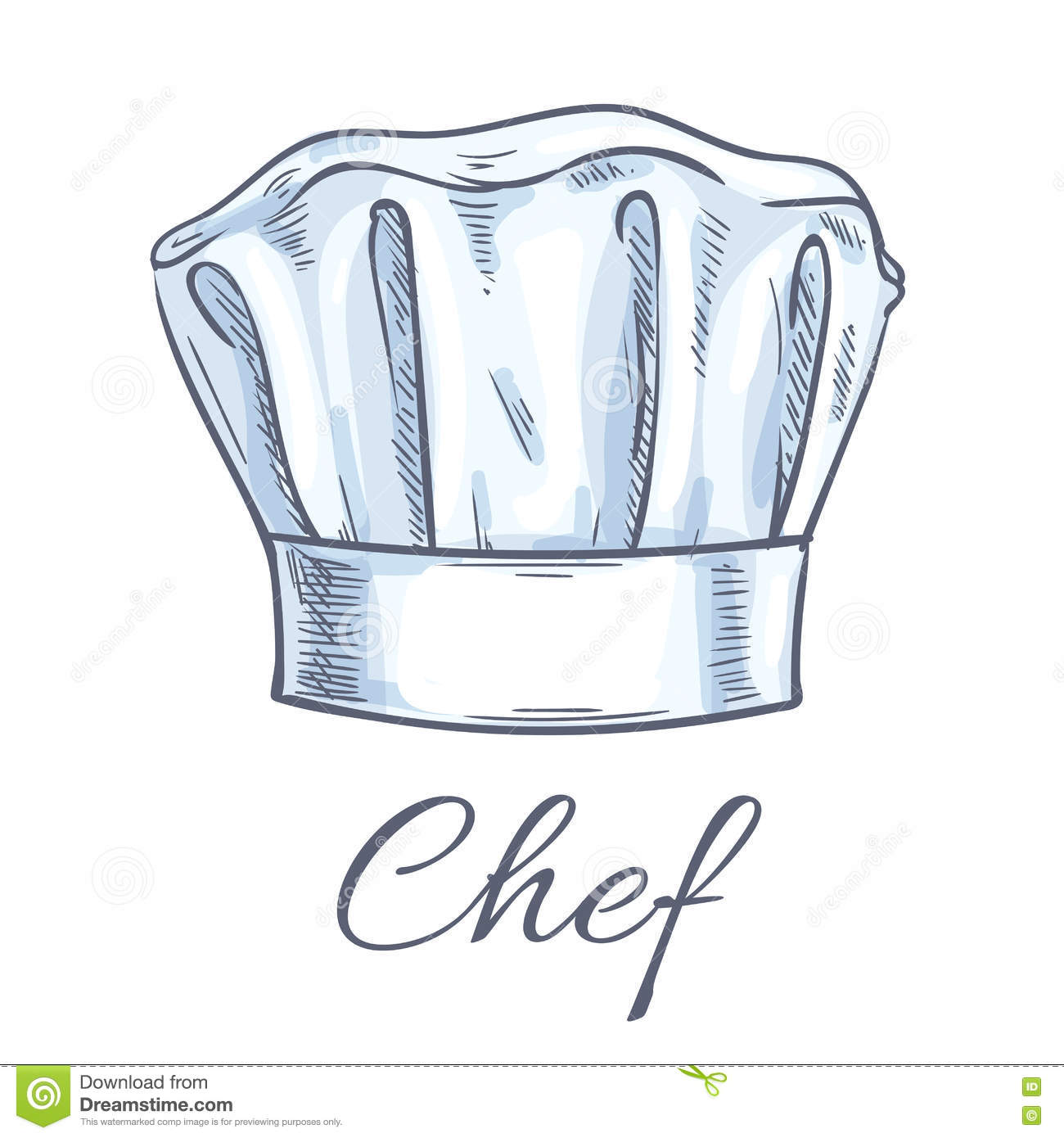 Toque De Chef Chef Toque Vector Sketch Icon Stock Vector Image 78013122
