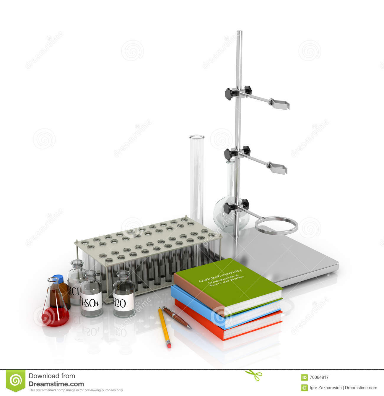 Laboratory Tripod Chemical Equipment And Laboratory Stock Illustration
