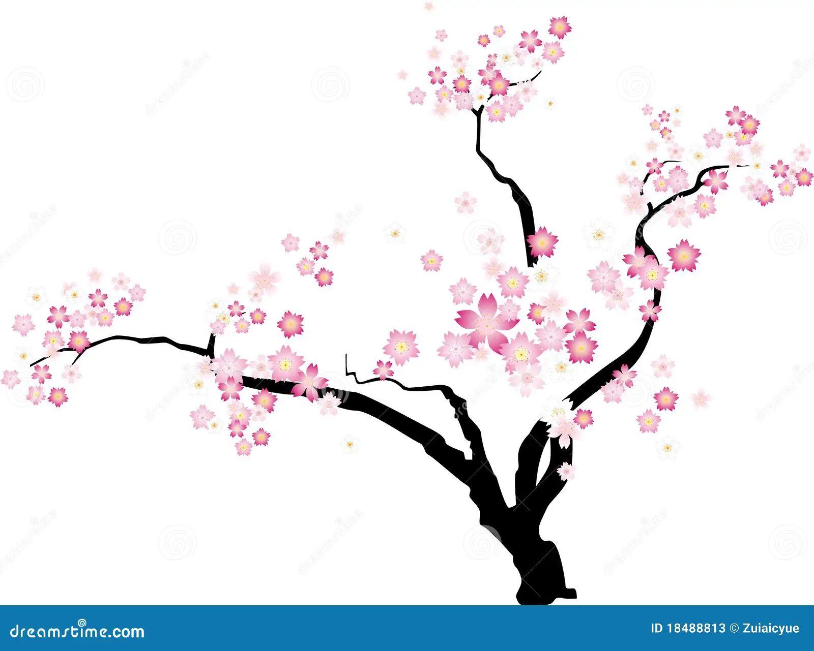 cherry blossom tree outline