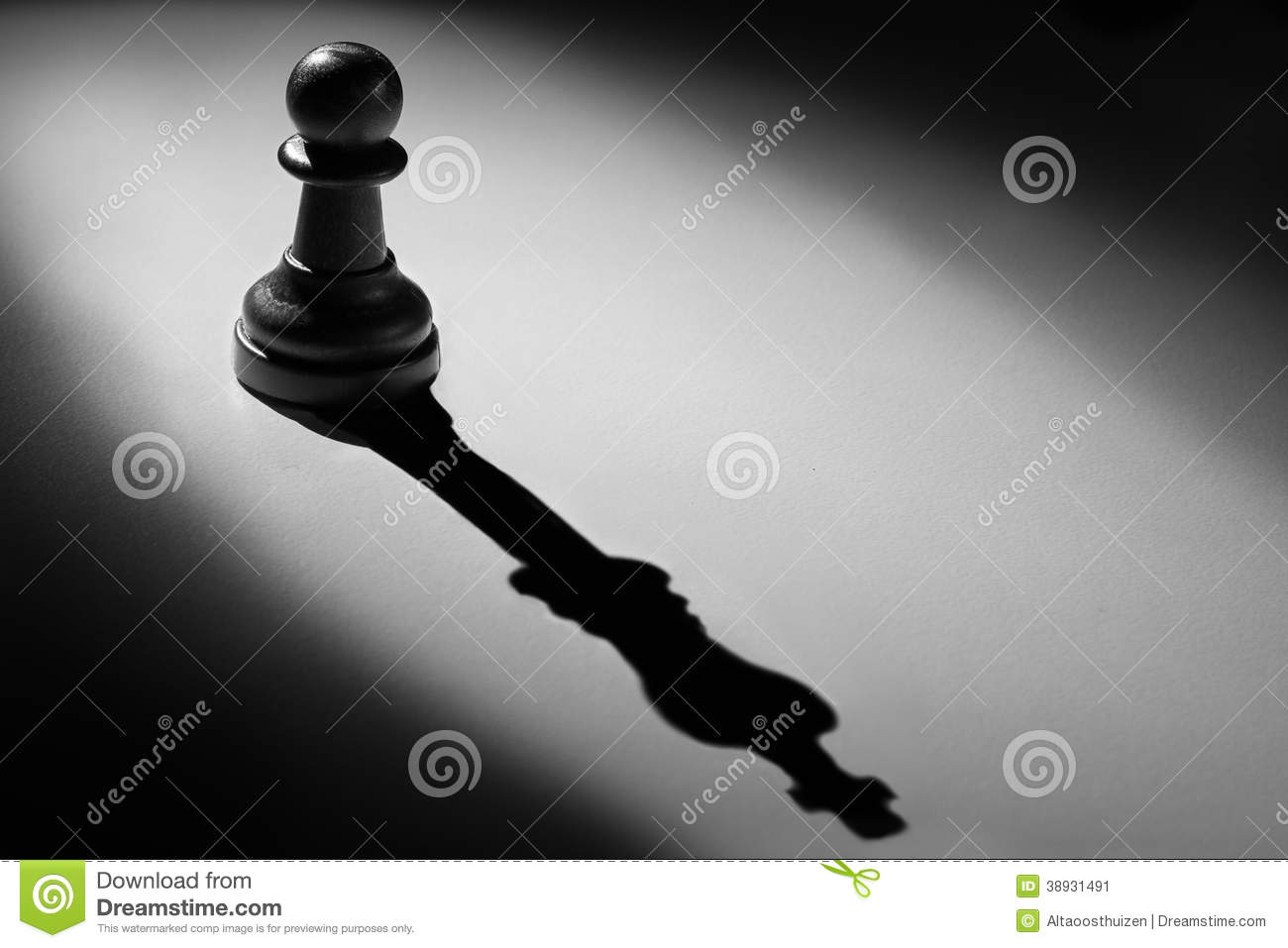 Wallpaper Coffee 3d Chess Pawn Standing In A Spotlight Shadow Of King Stock