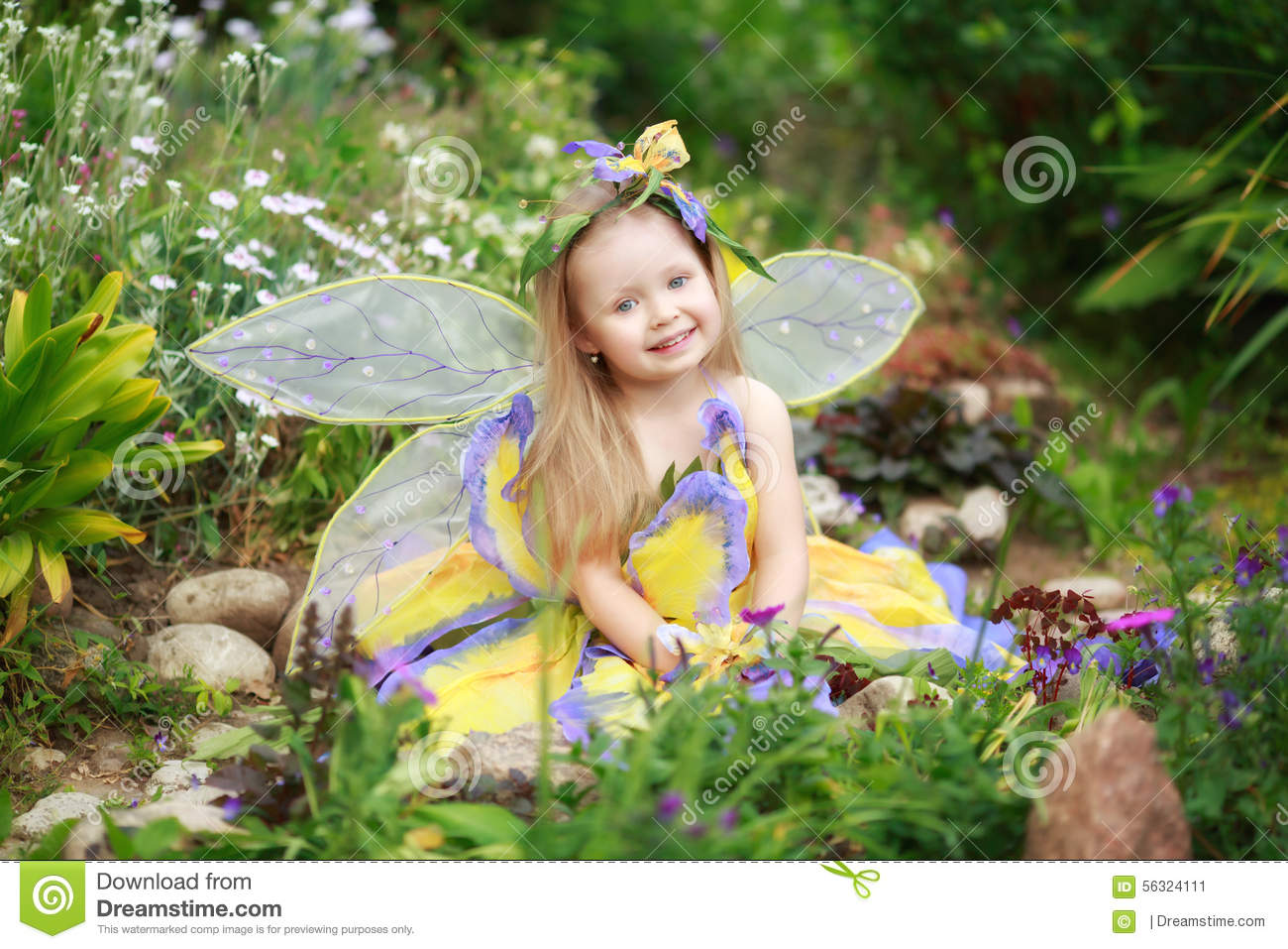 Be Happy Girl Wallpaper Child Girl Dressed As Fairy Stock Photo Image 56324111