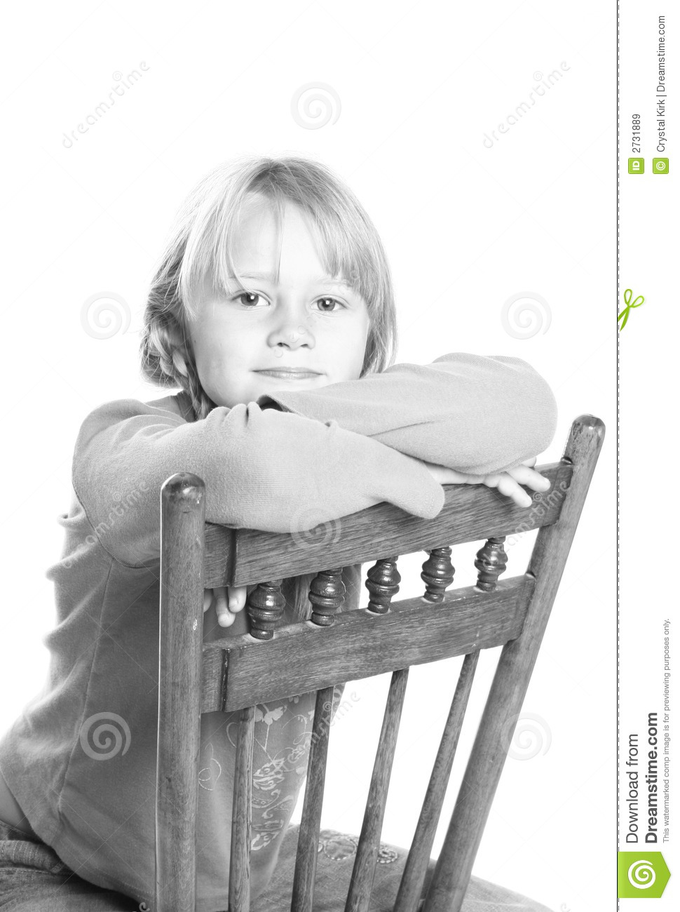 Royalty free stock photo download child sitting in chair