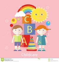 Childcare Concept Stock Vector - Image: 52460399