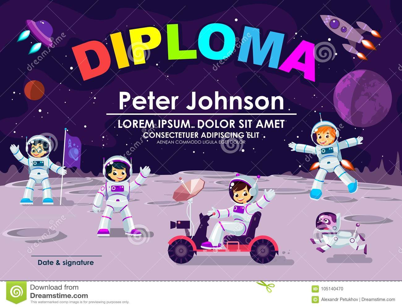 diploma design template