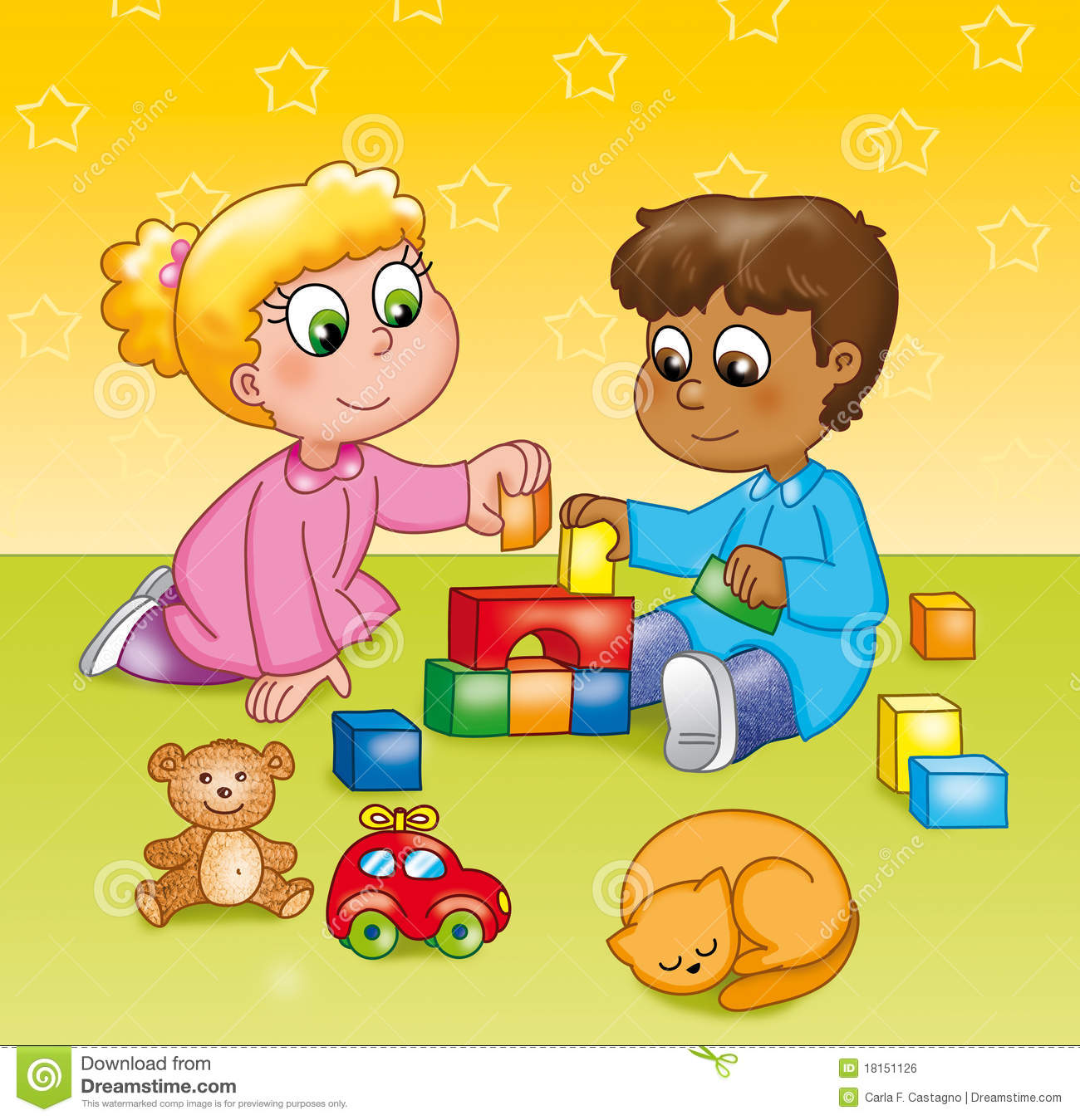 Art For Kids Teppiche Children Playing In A Kindergarten Royalty Free Stock