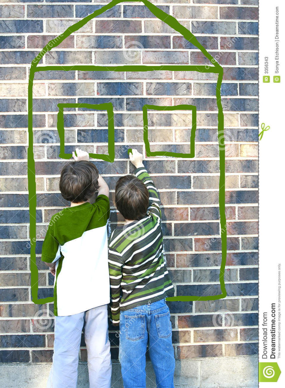 Stock Image Dreamstime Children Writing On Brick Wall Stock Photos Image 3356343