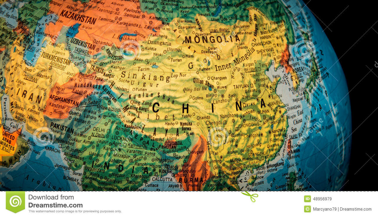 Chinese Geography China Globe Stock Image Image Of Chinese Geography 48956979