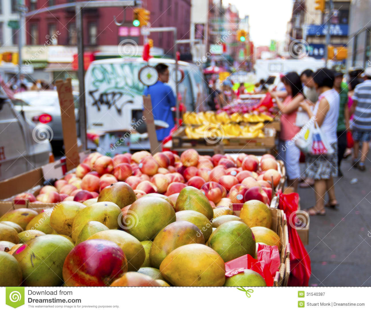 Fruit Bins For Sale Food For Sale Chinatown New York Editorial Photo