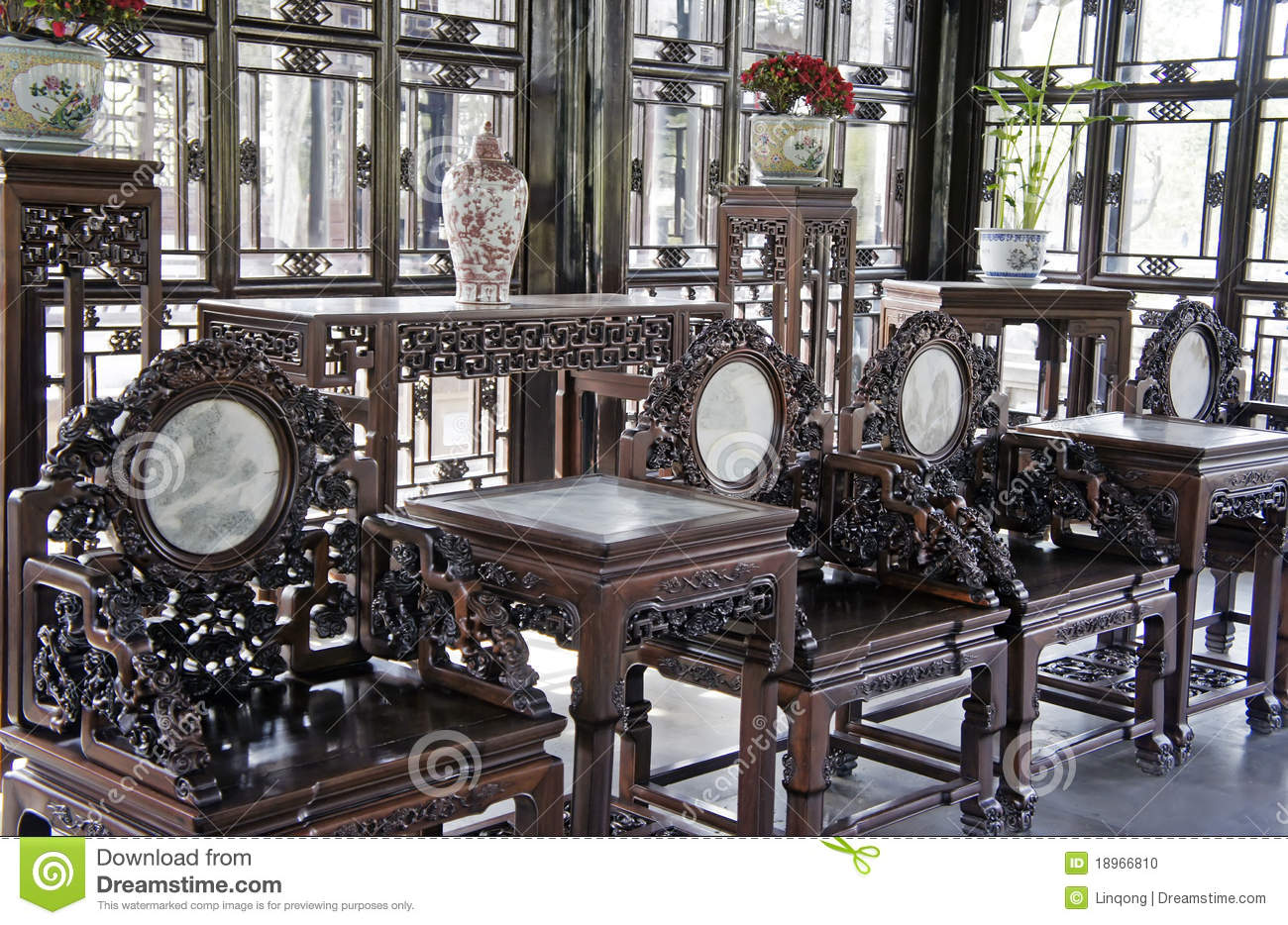 Asian Antique Furniture Chinese Antique Furniture Stock Photo - Image: 18966810
