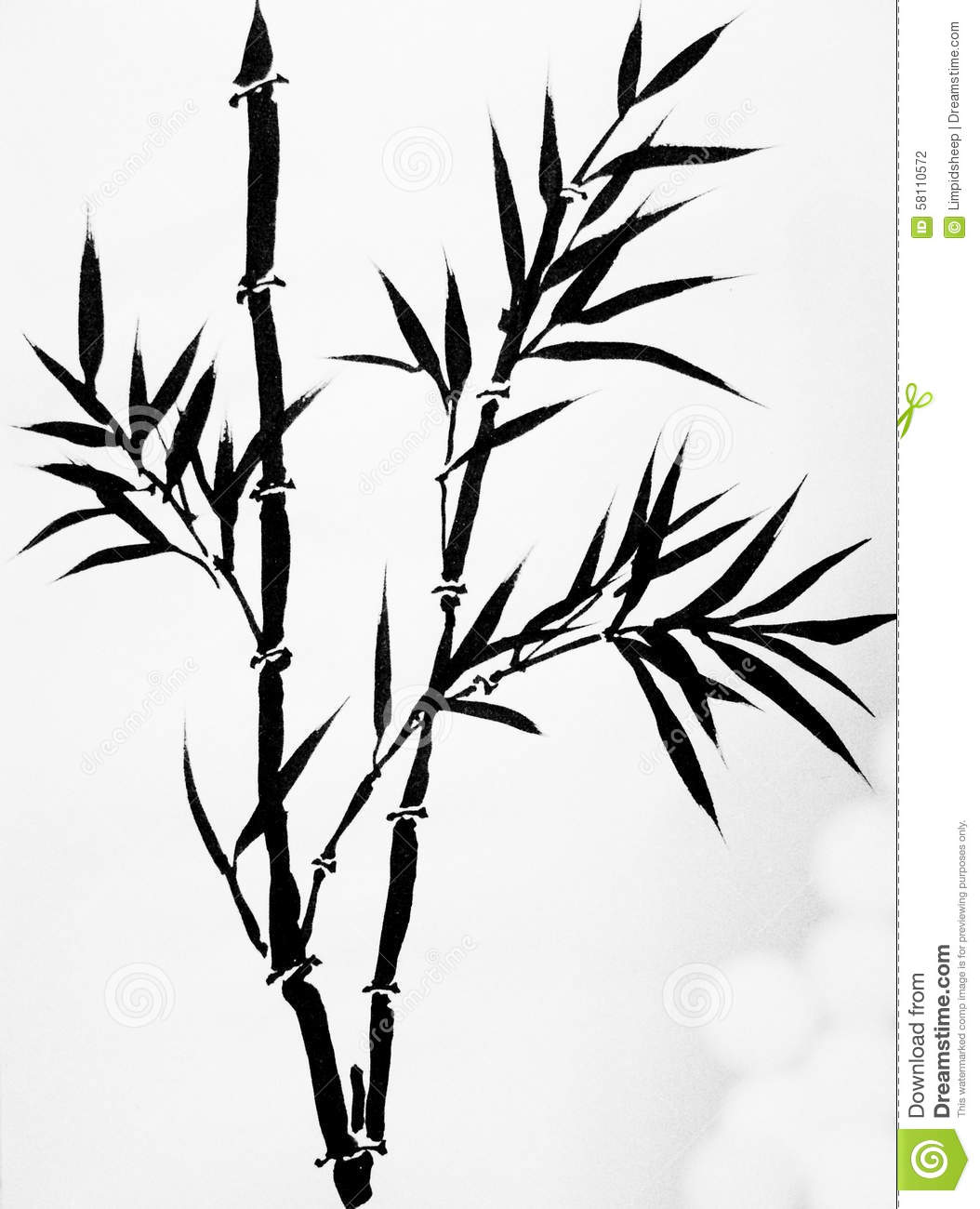 Black And White Leaf Wallpaper Chinese Art Ink Painting Stock Illustration Image 58110572
