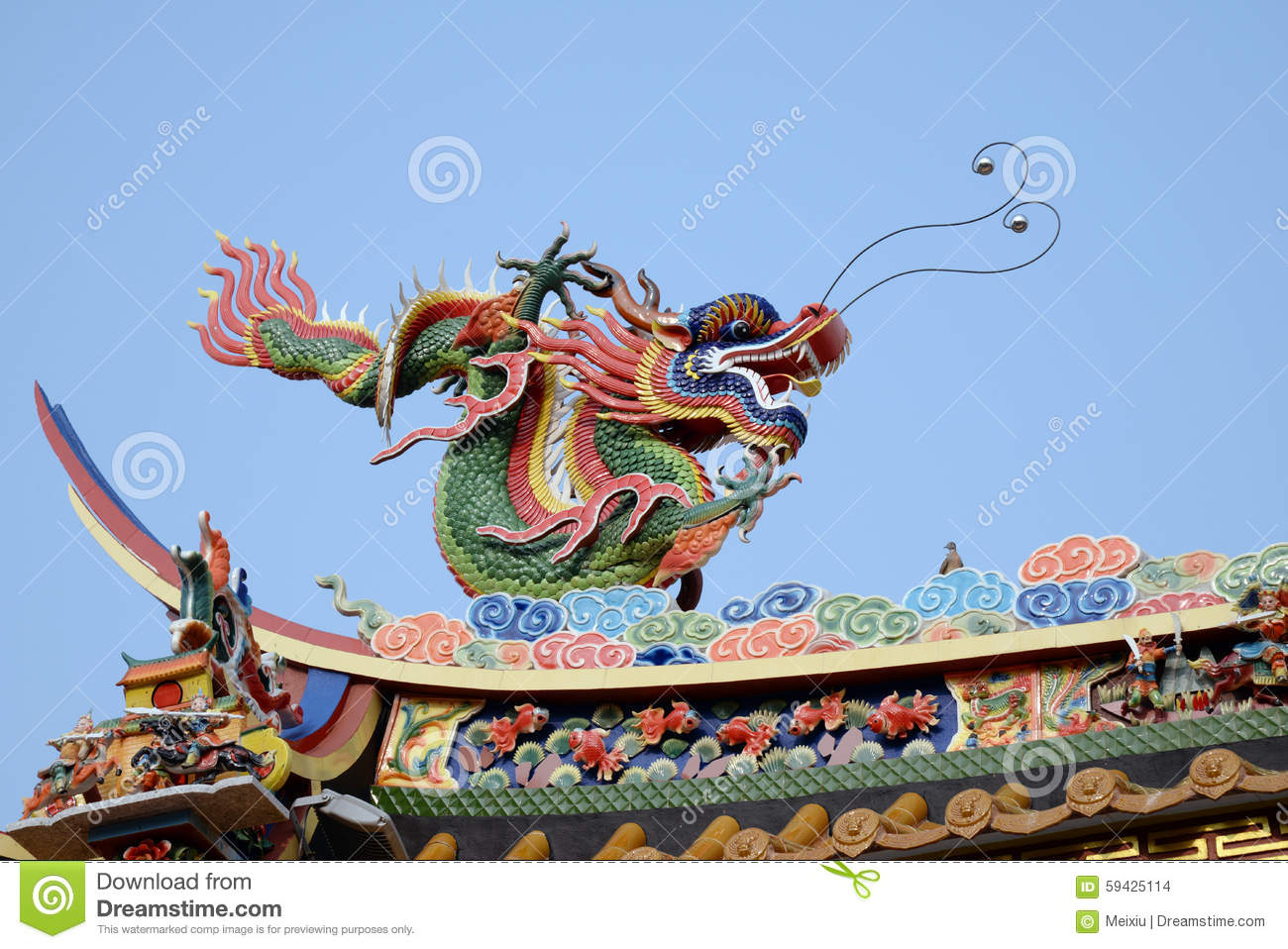 Chinese Dragon Decor Chinese Dragon Stock Photo Image 59425114