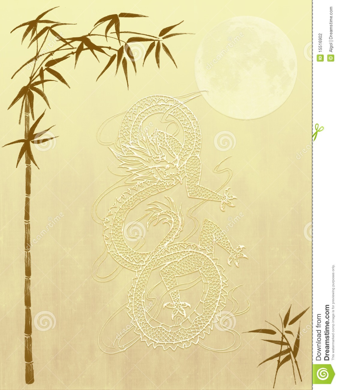 Fall Leaves Wallpaper Powerpoint Background Chinese Dragon And Bamboo Background Paper Stock