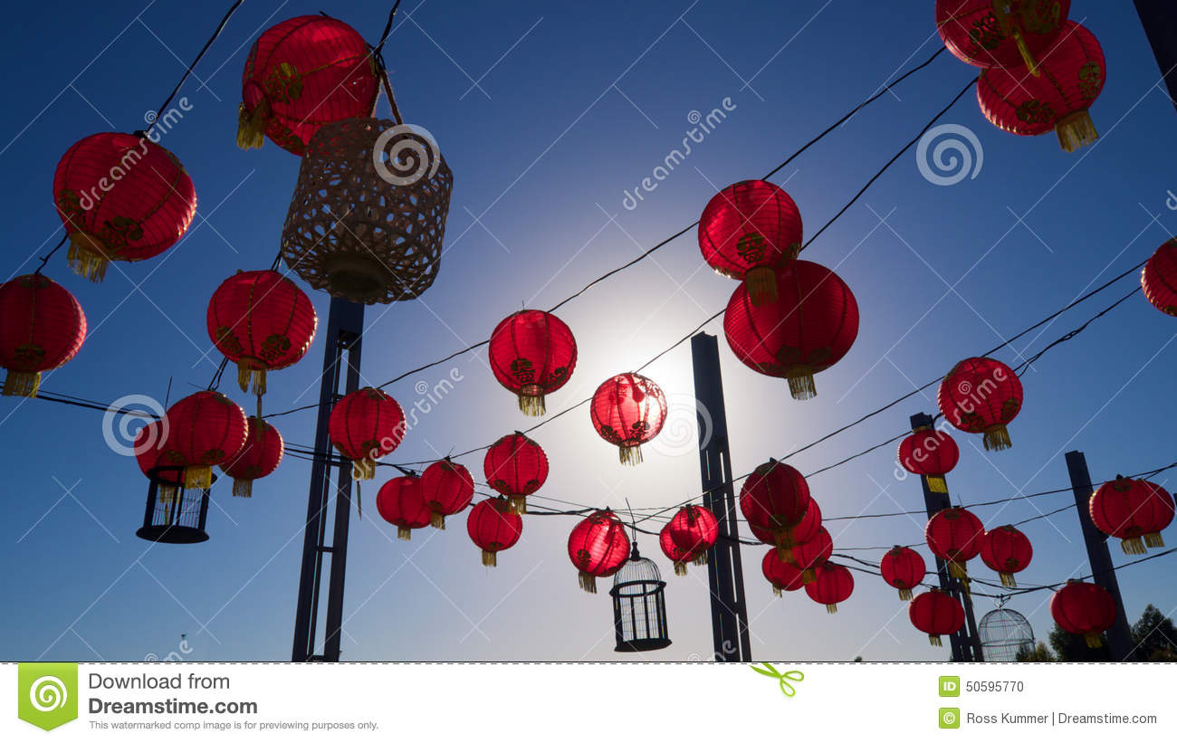 Paper Lanterns Melbourne Chinese Lanterns Stock Photo Image Of Tourism China 50595770