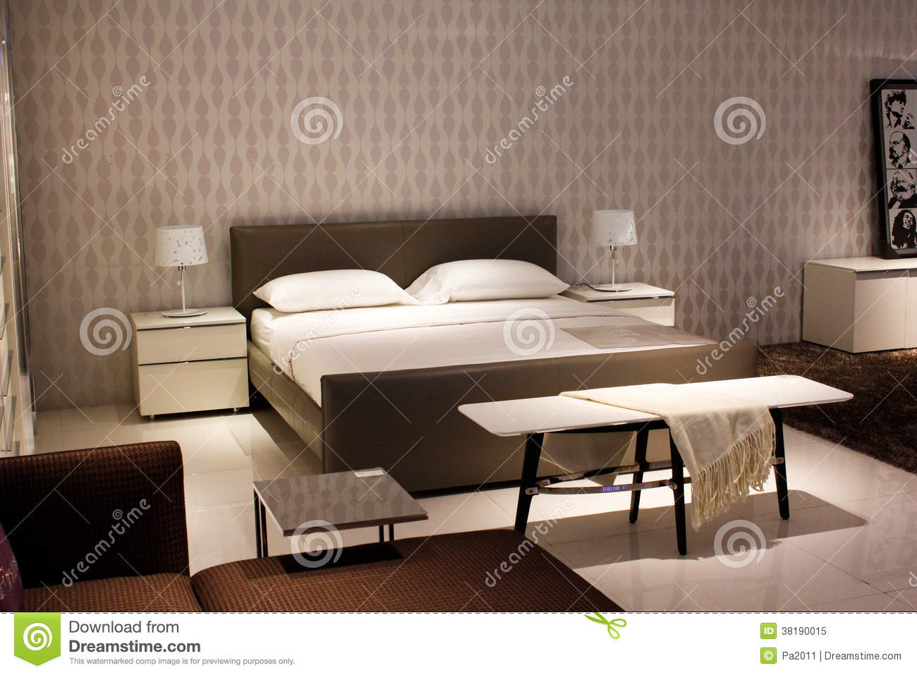 Modern Bedroom Layout Chinese Modern Style Furniture Bedroom Stock Image Image Of