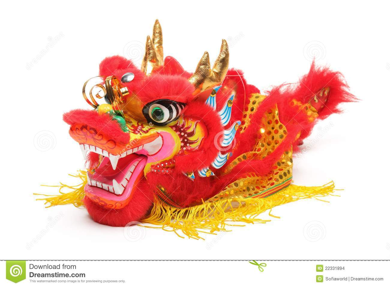Chinese Dragon Decor Chinese New Year Decoration Stock Photo Image Of White